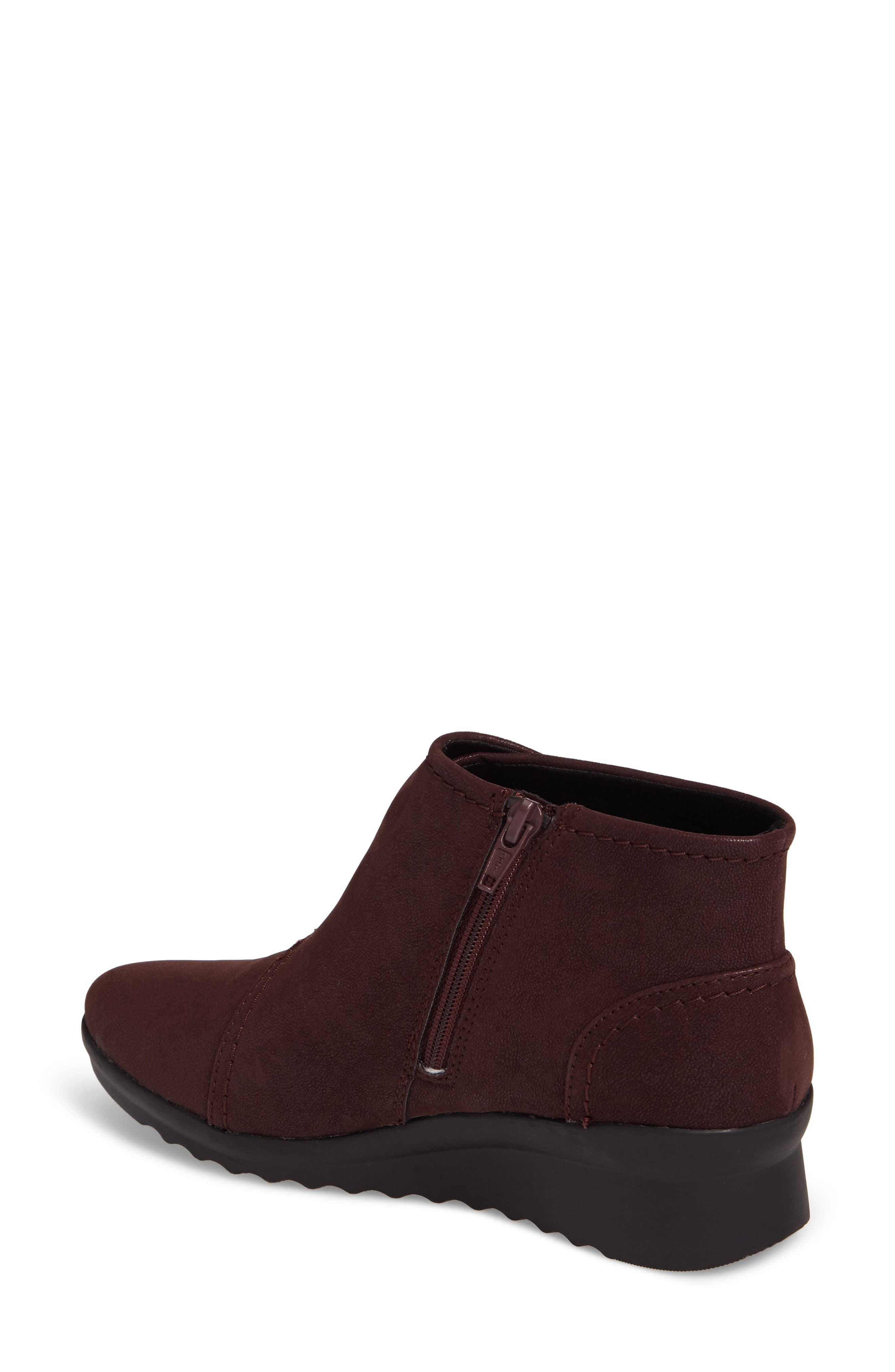 Caddell Rush Bootie,                             Alternate thumbnail 2, color,                             Burgundy Leather