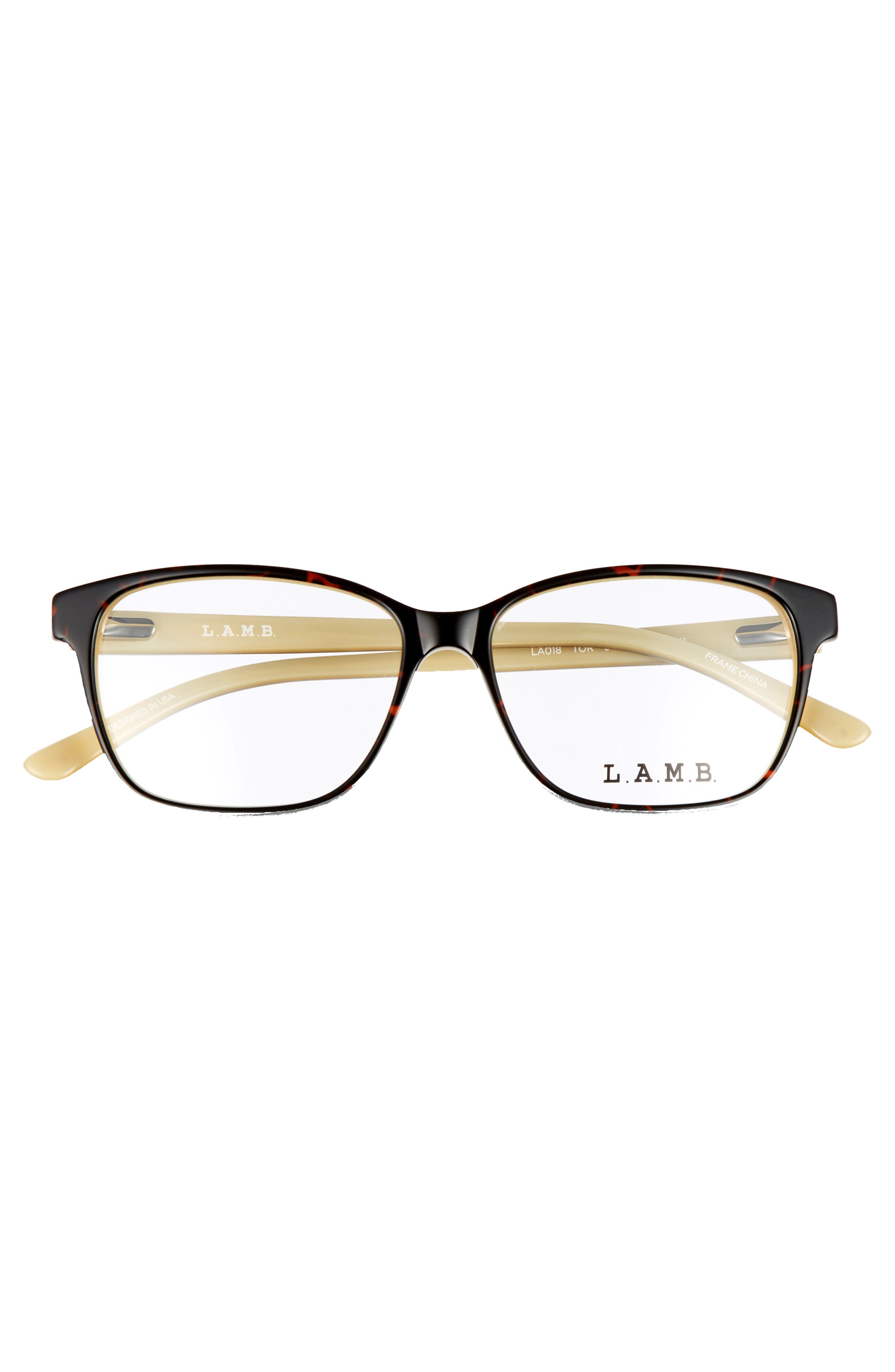 54mm Square Optical Glasses,                             Alternate thumbnail 3, color,                             Yellow