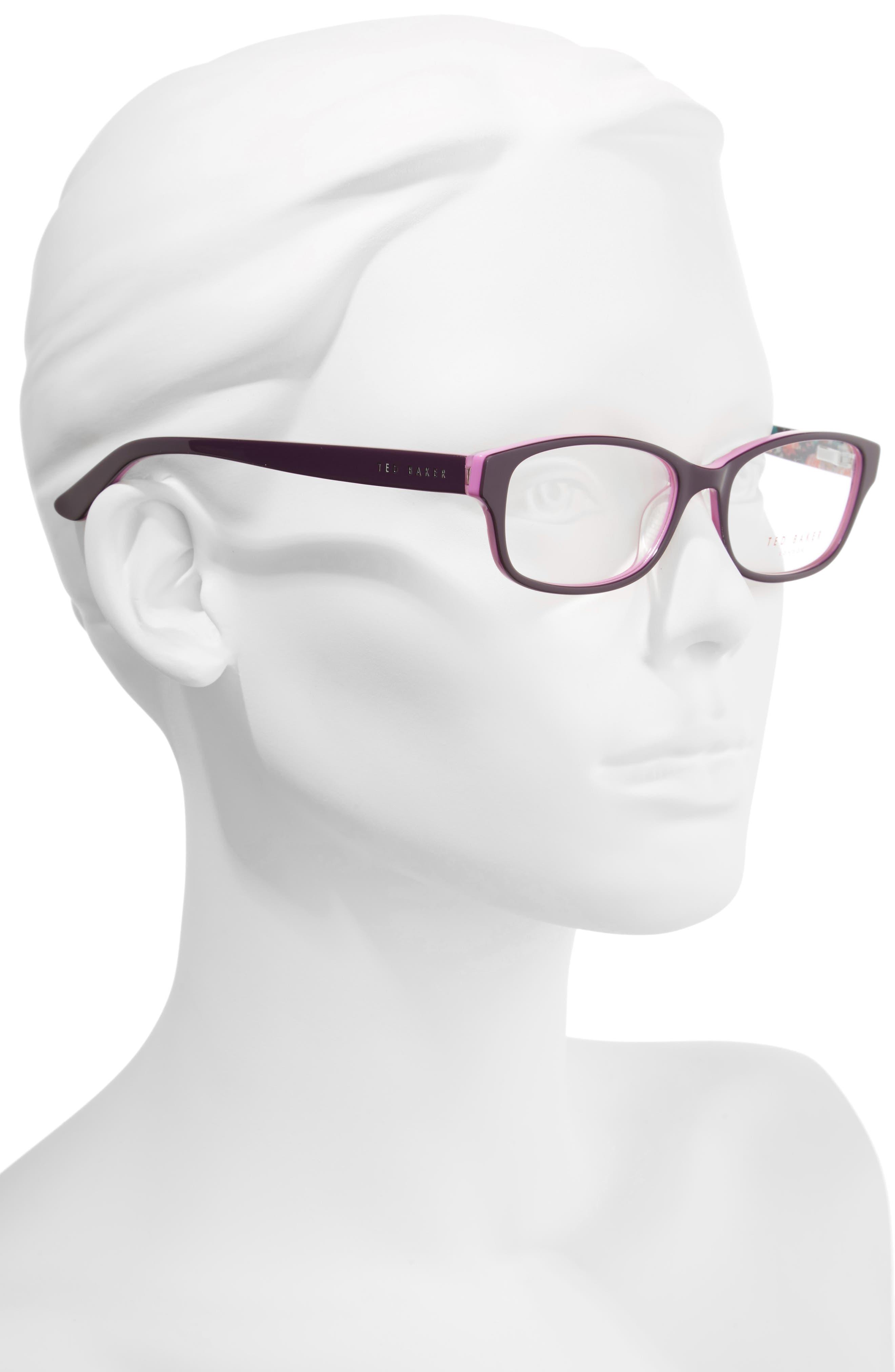 53mm Optical Glasses,                             Alternate thumbnail 2, color,                             Purple