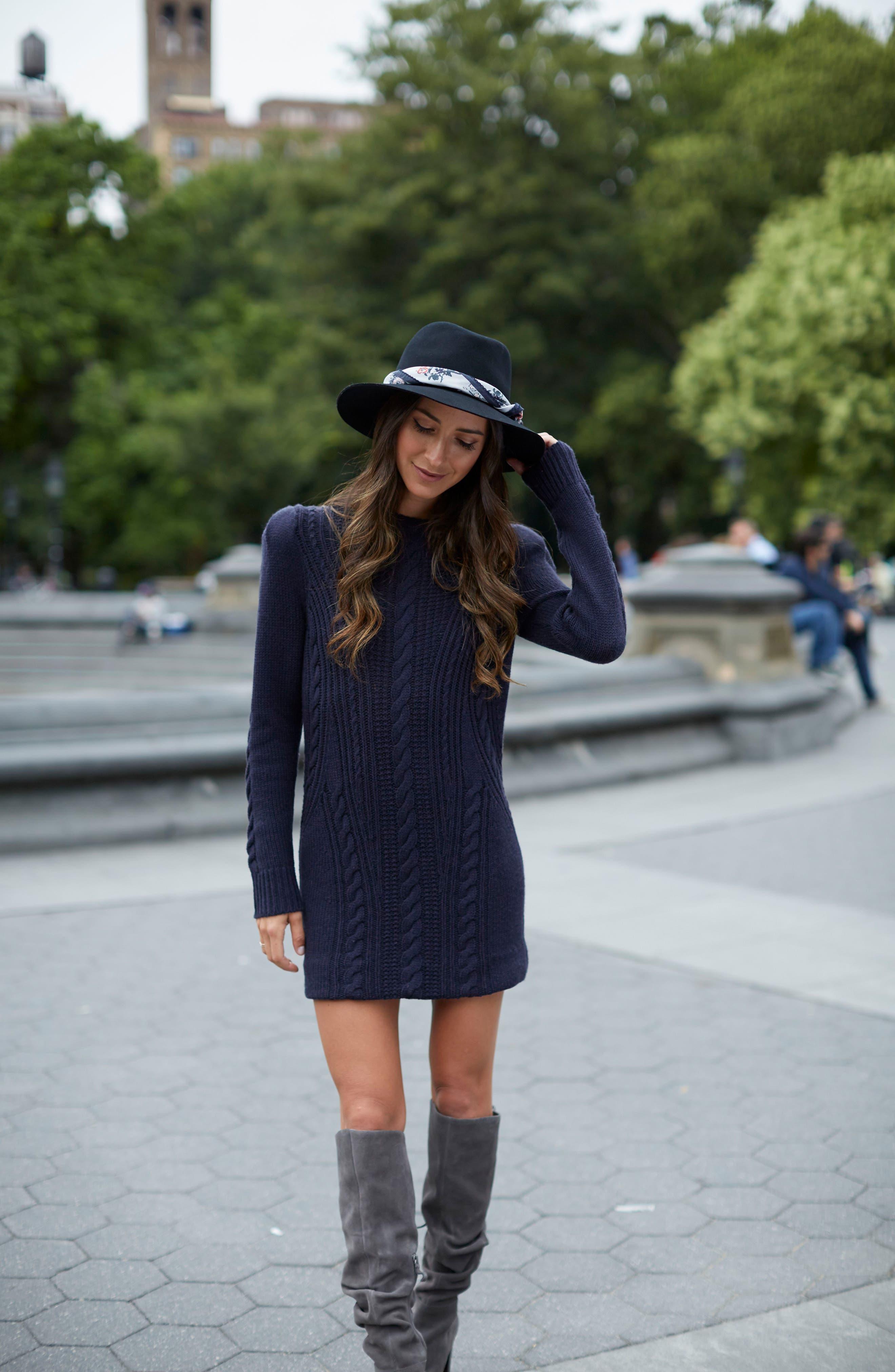 x Something Navy Sweater Dress,                             Alternate thumbnail 2, color,                             Navy Night