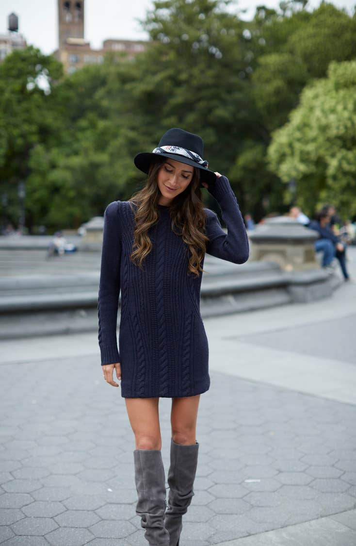 Treasure & Bond X Something Navy Sweater Dress