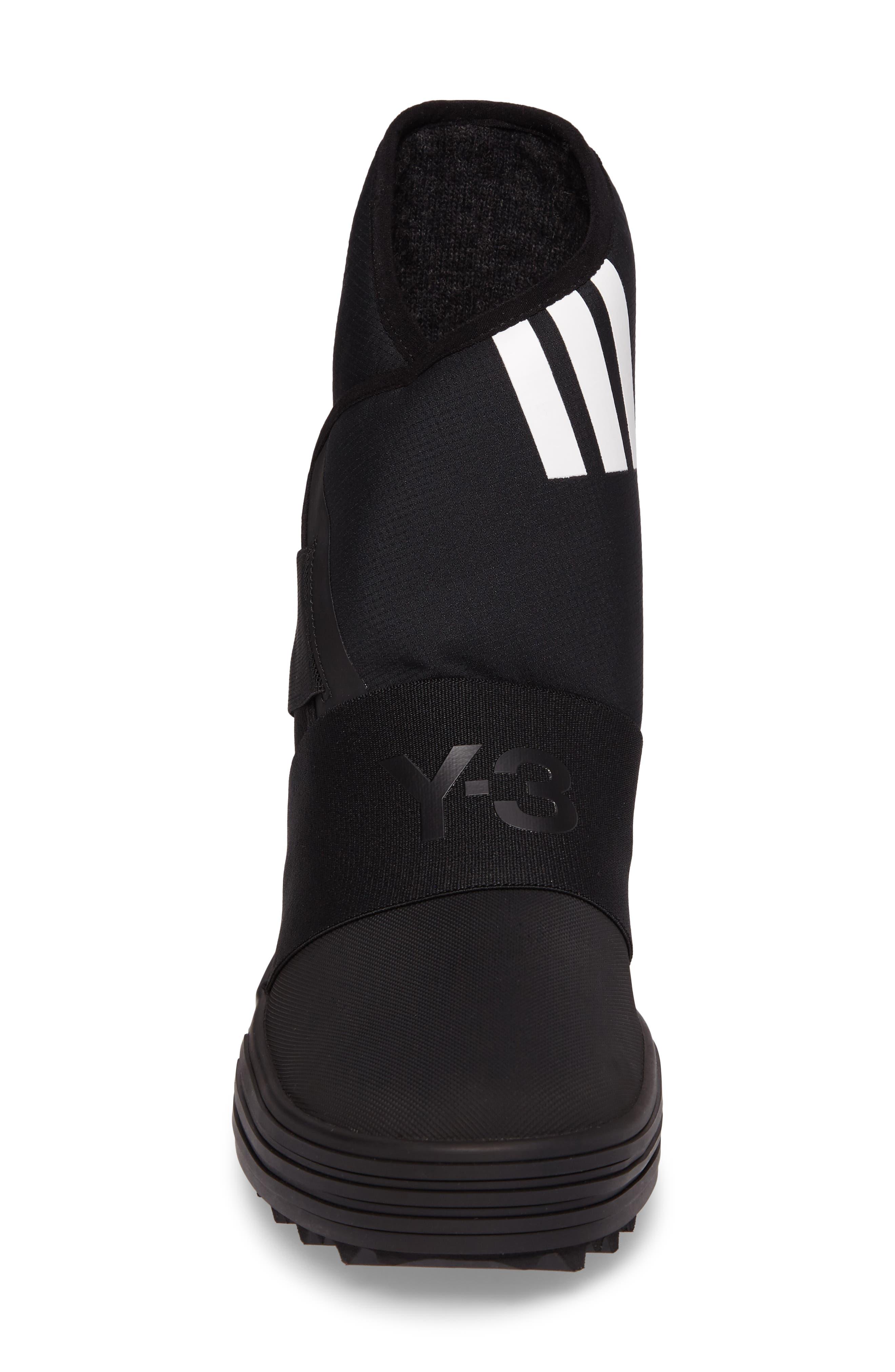 Sno Foxing High Top Sneaker,                             Alternate thumbnail 4, color,                             Core Black / White