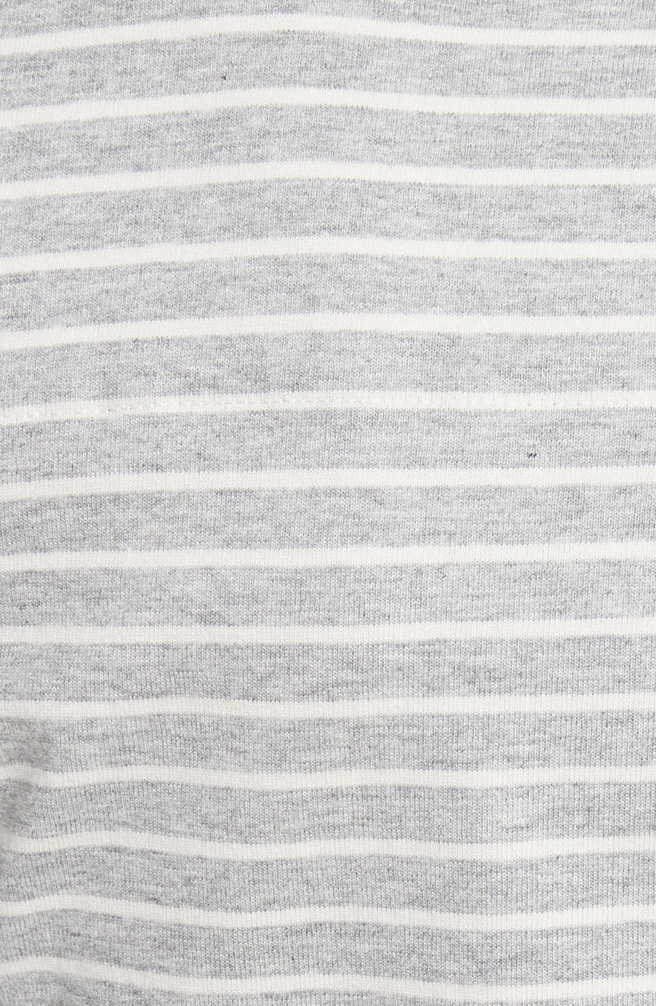 Stripe Jersey Top,                             Alternate thumbnail 6, color,                             Heather Grey Combo