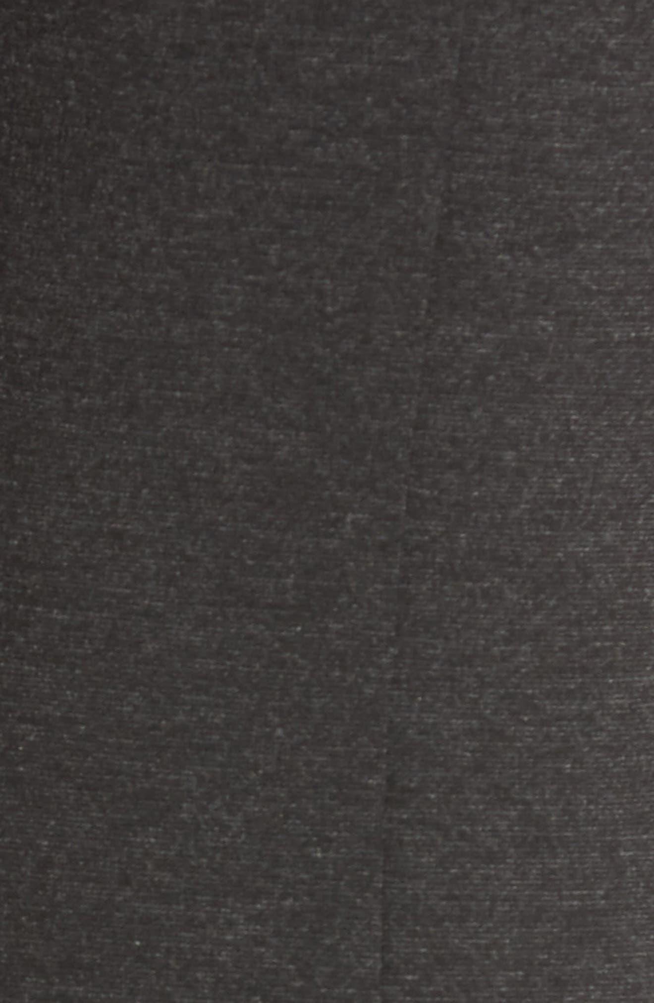 Seamed Ponte Knit Leggings,                             Alternate thumbnail 5, color,                             Charcoal Grey