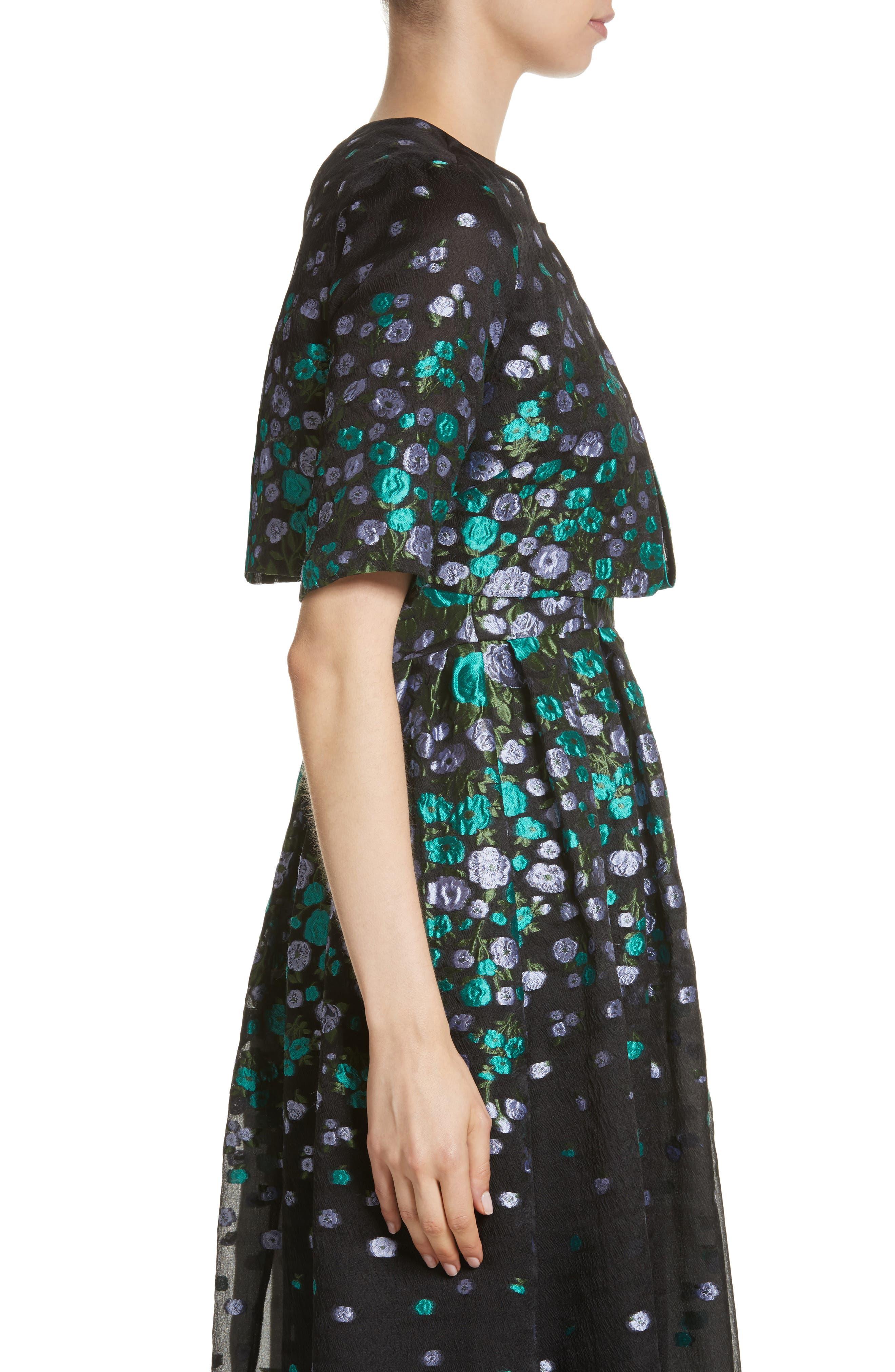 Alternate Image 3  - Lela Rose Floral Matelassé Crop Jacket