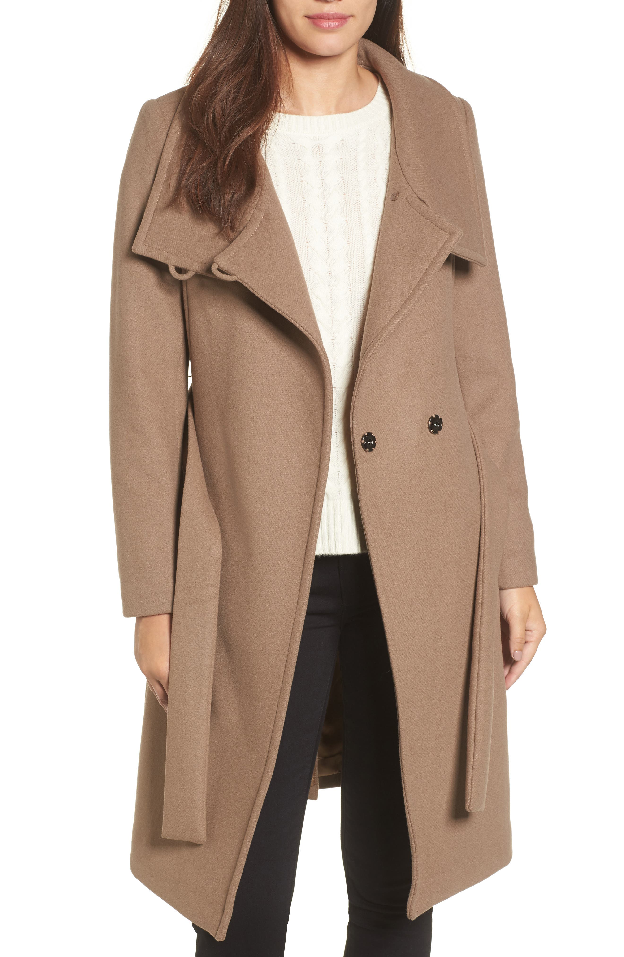 Main Image - Trina Turk Daphne Oversized Collar Coat
