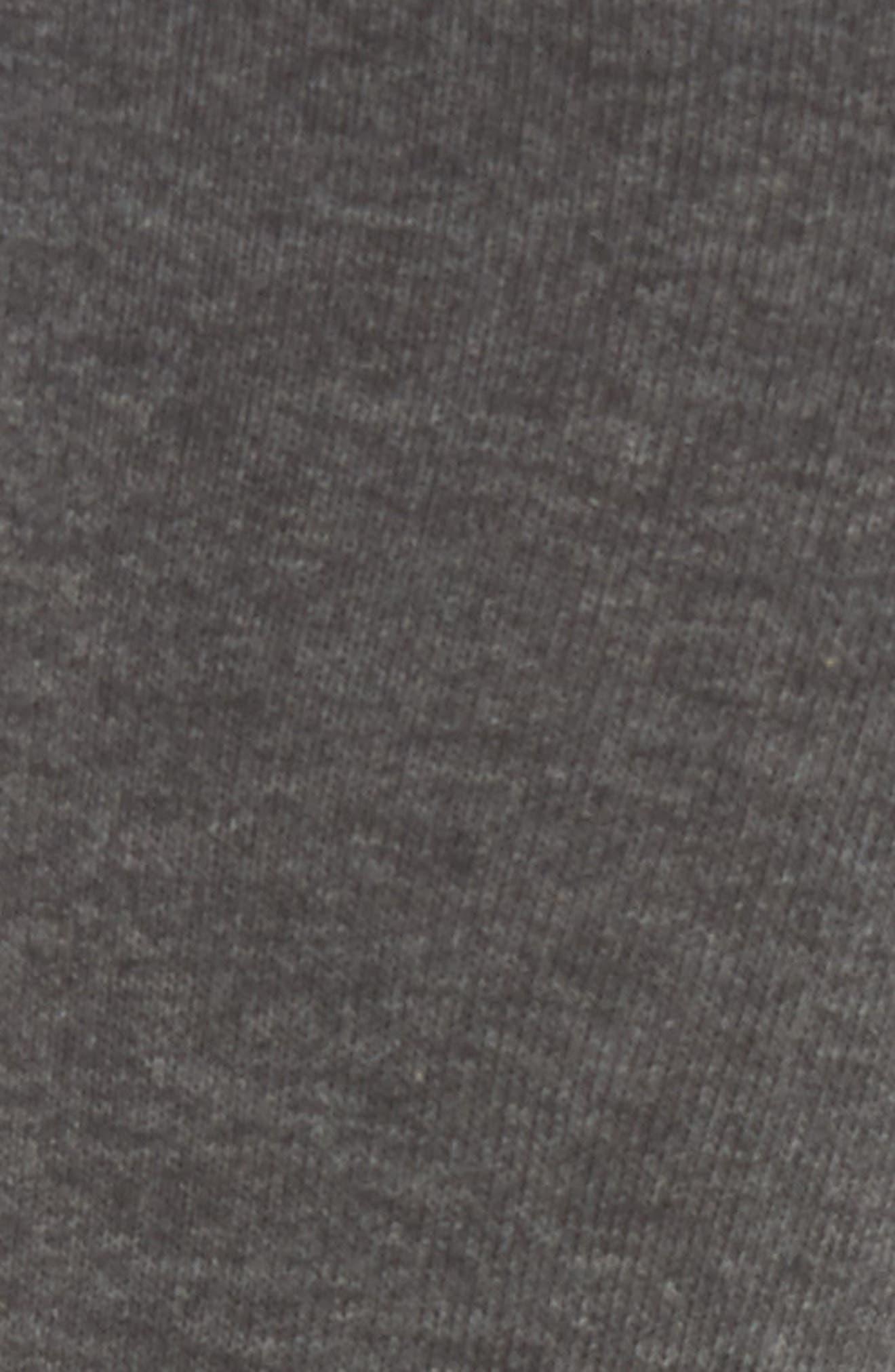 Keep Vibing Crew Socks,                             Alternate thumbnail 3, color,                             Charcoal Heather
