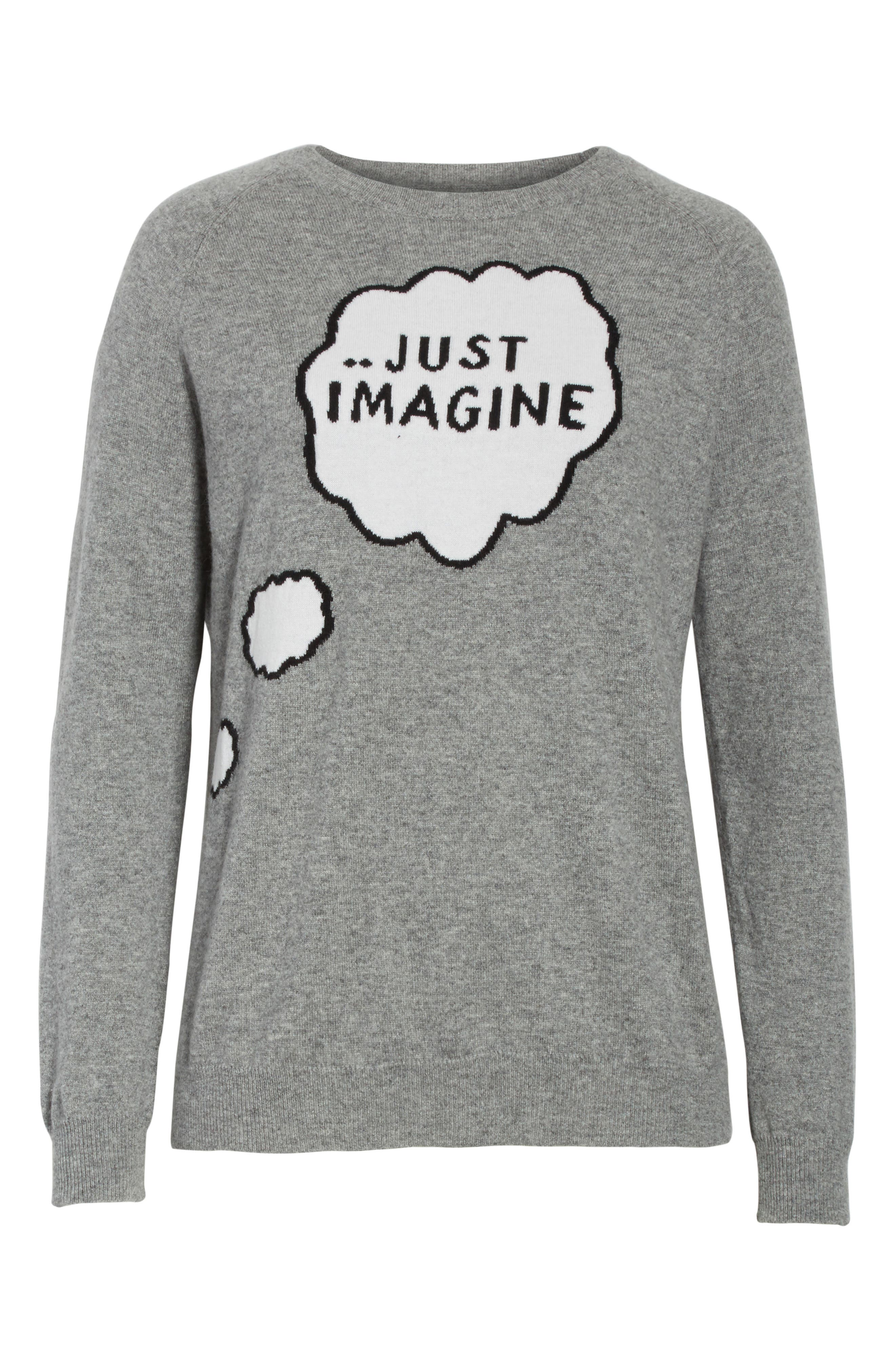 CHINTI & PARKER Just Imagine Moomin Cashmere Sweater,                             Alternate thumbnail 6, color,                             Grey