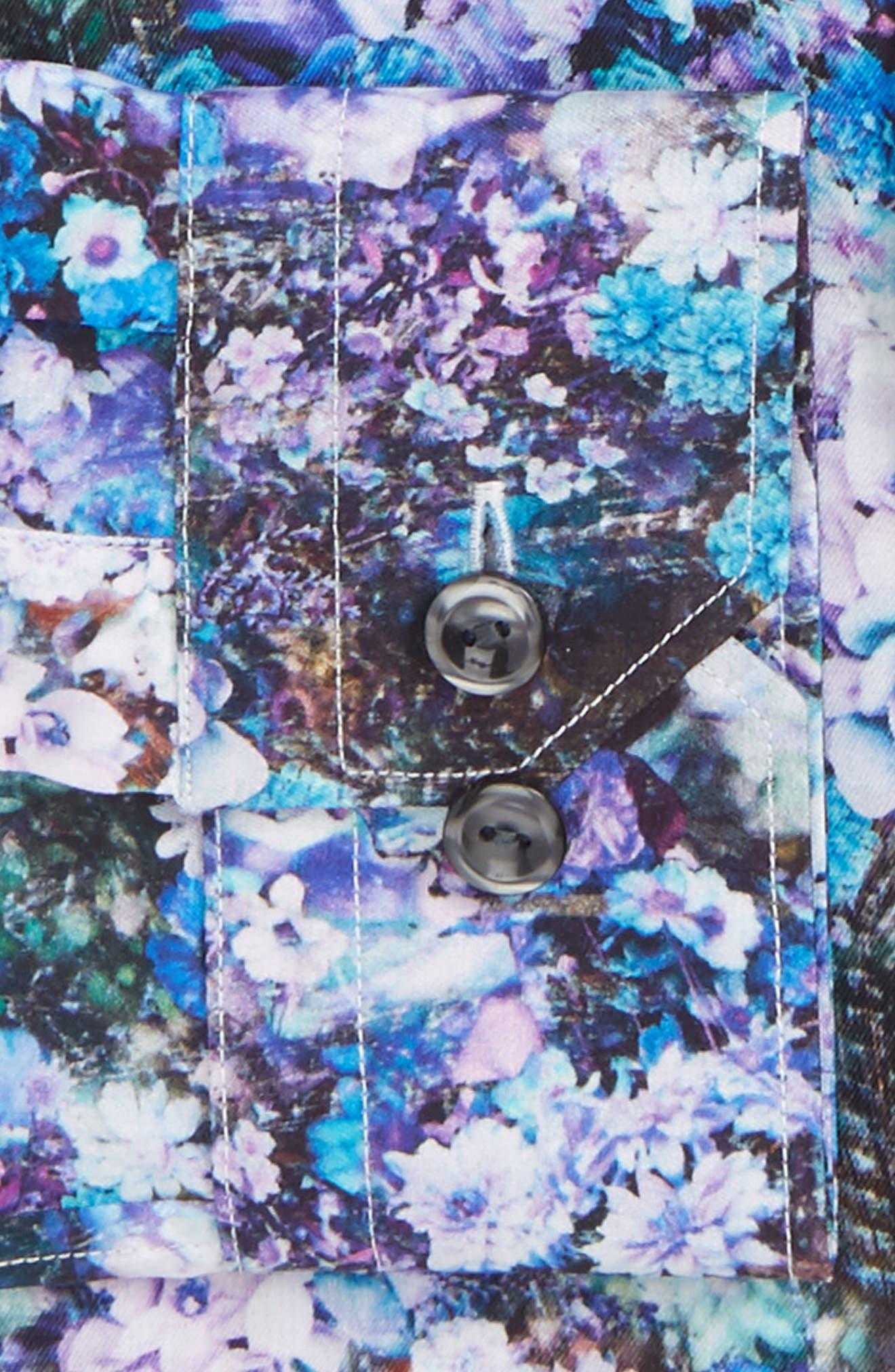 Alternate Image 2  - Eton Super Slim Fit Floral Print Dress Shirt