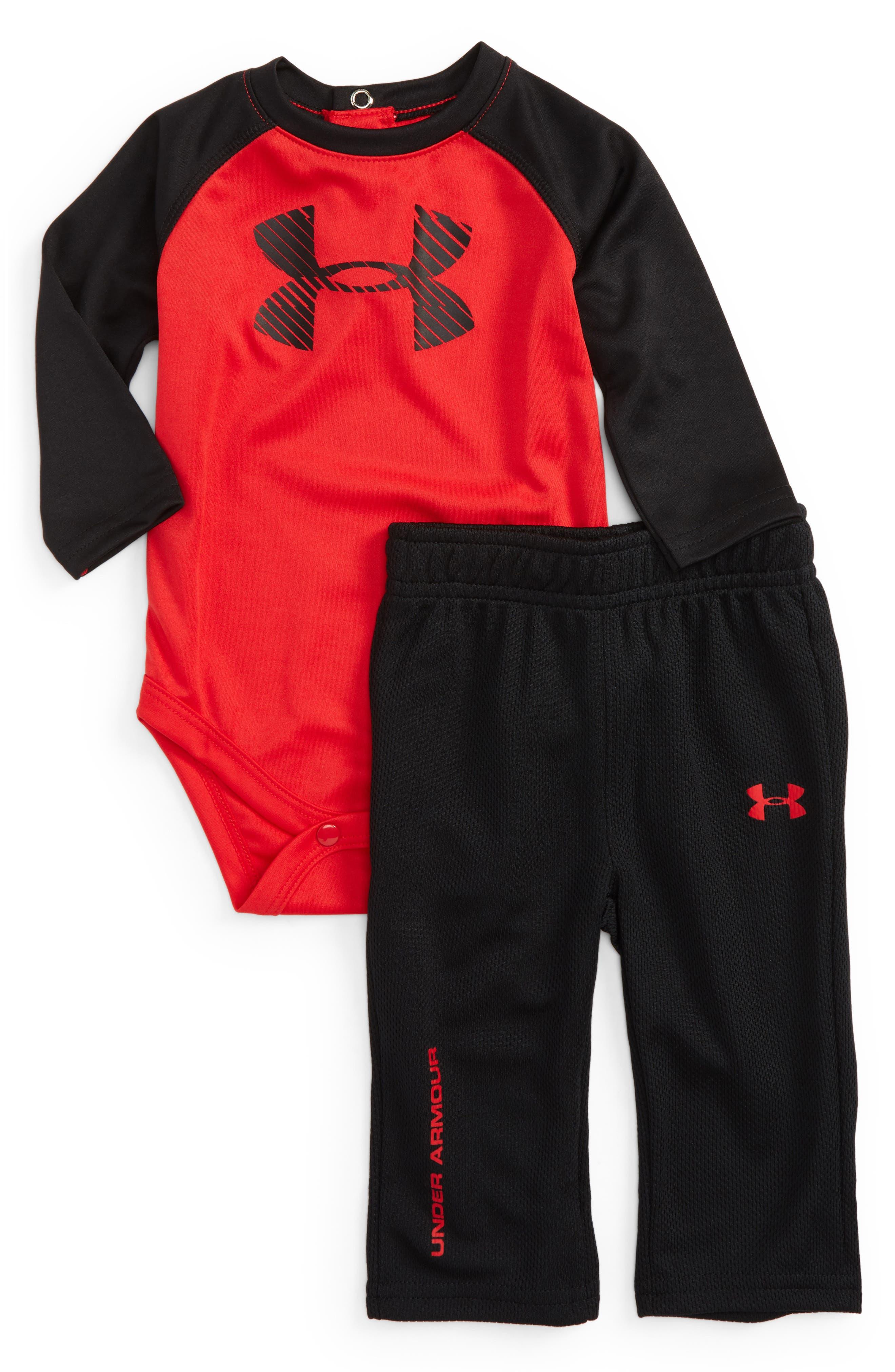 Under Armour Speedlines Bodysuit & Pants Set (Baby Boys)