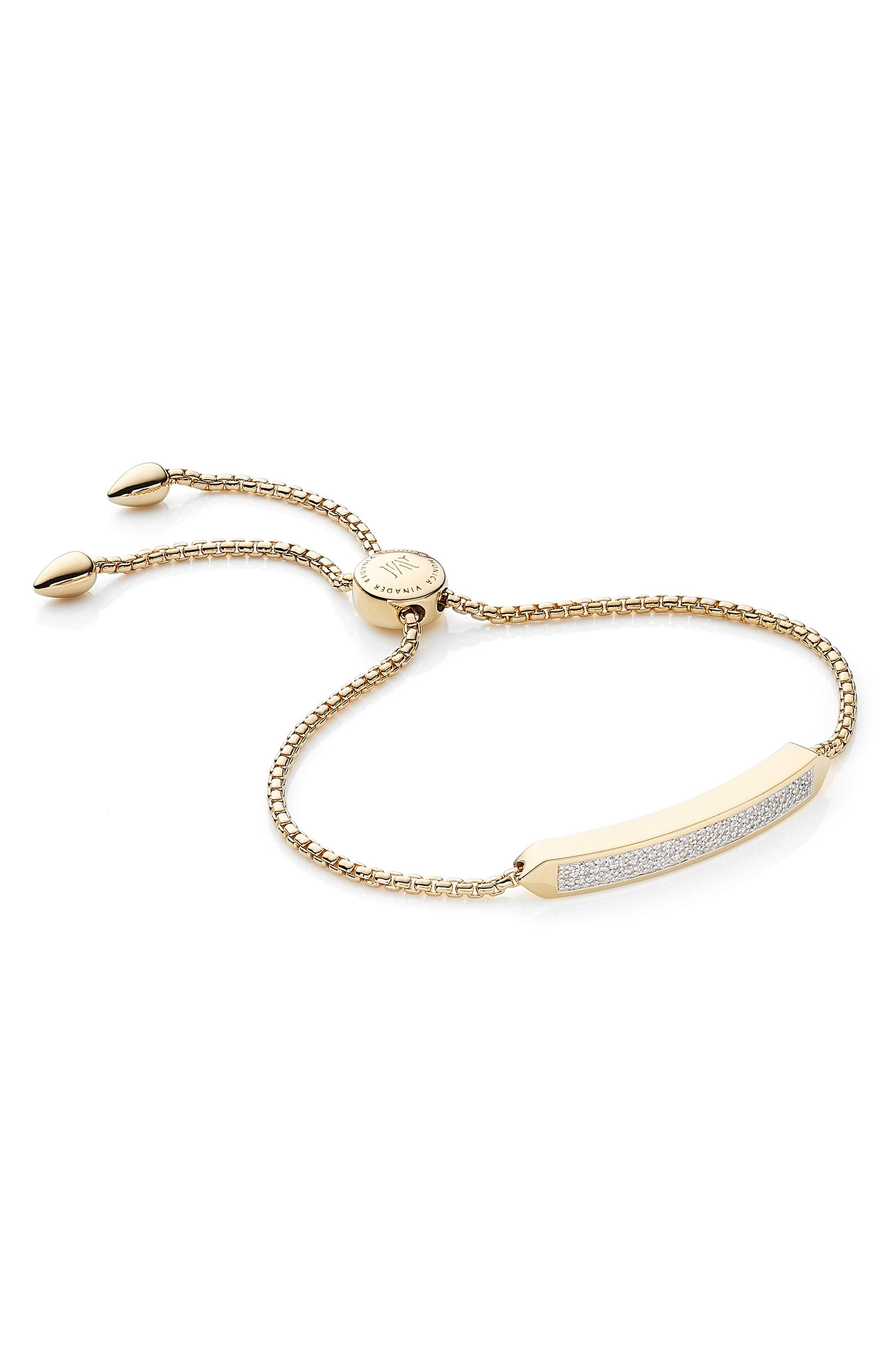 Baja Skinny Pavé Diamond Bracelet,                         Main,                         color, Yellow Gold