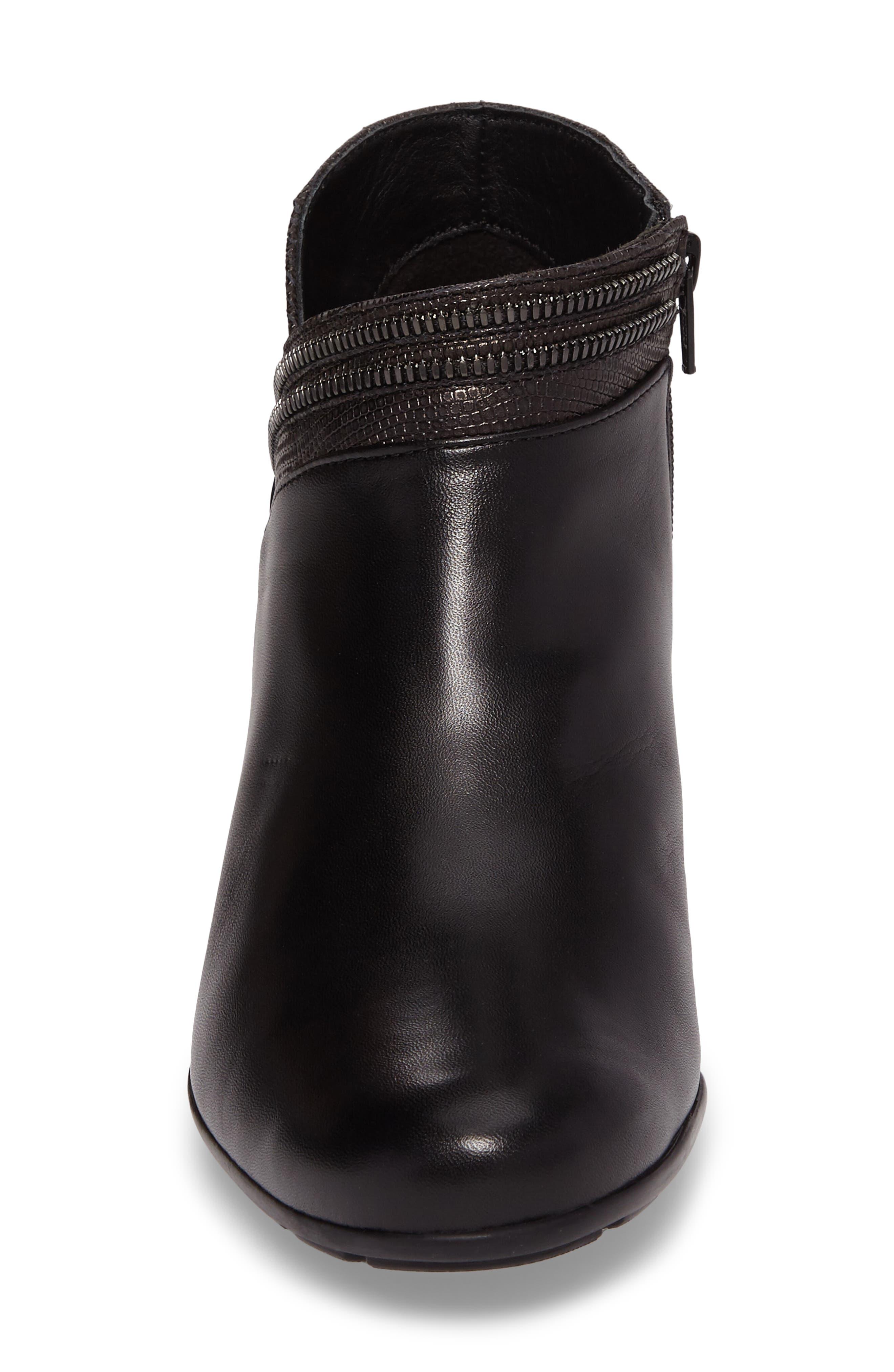 Britie Bootie,                             Alternate thumbnail 4, color,                             Black Leather