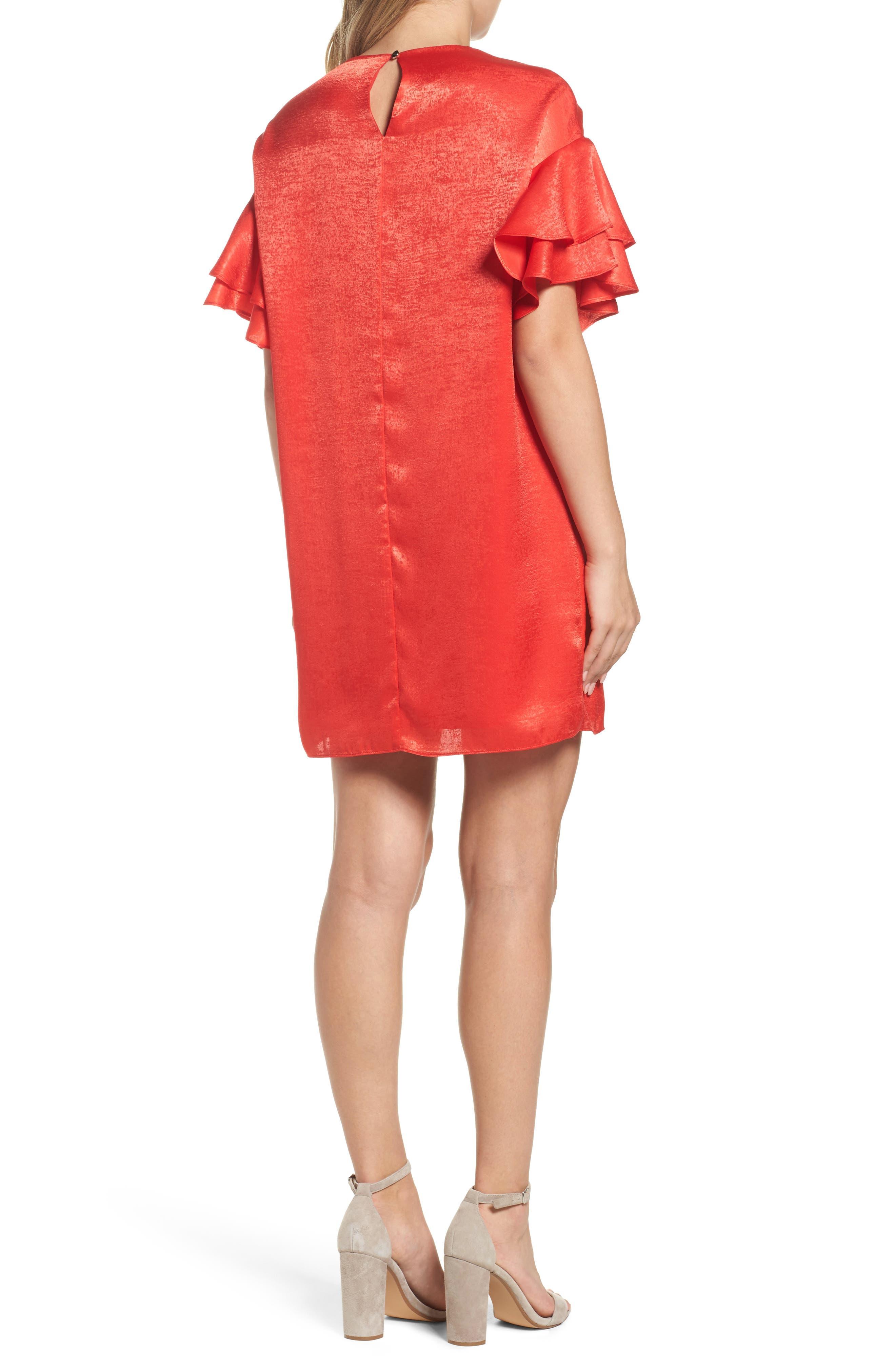 Alternate Image 2  - NSR Ruffle Charmeuse Shift Dress