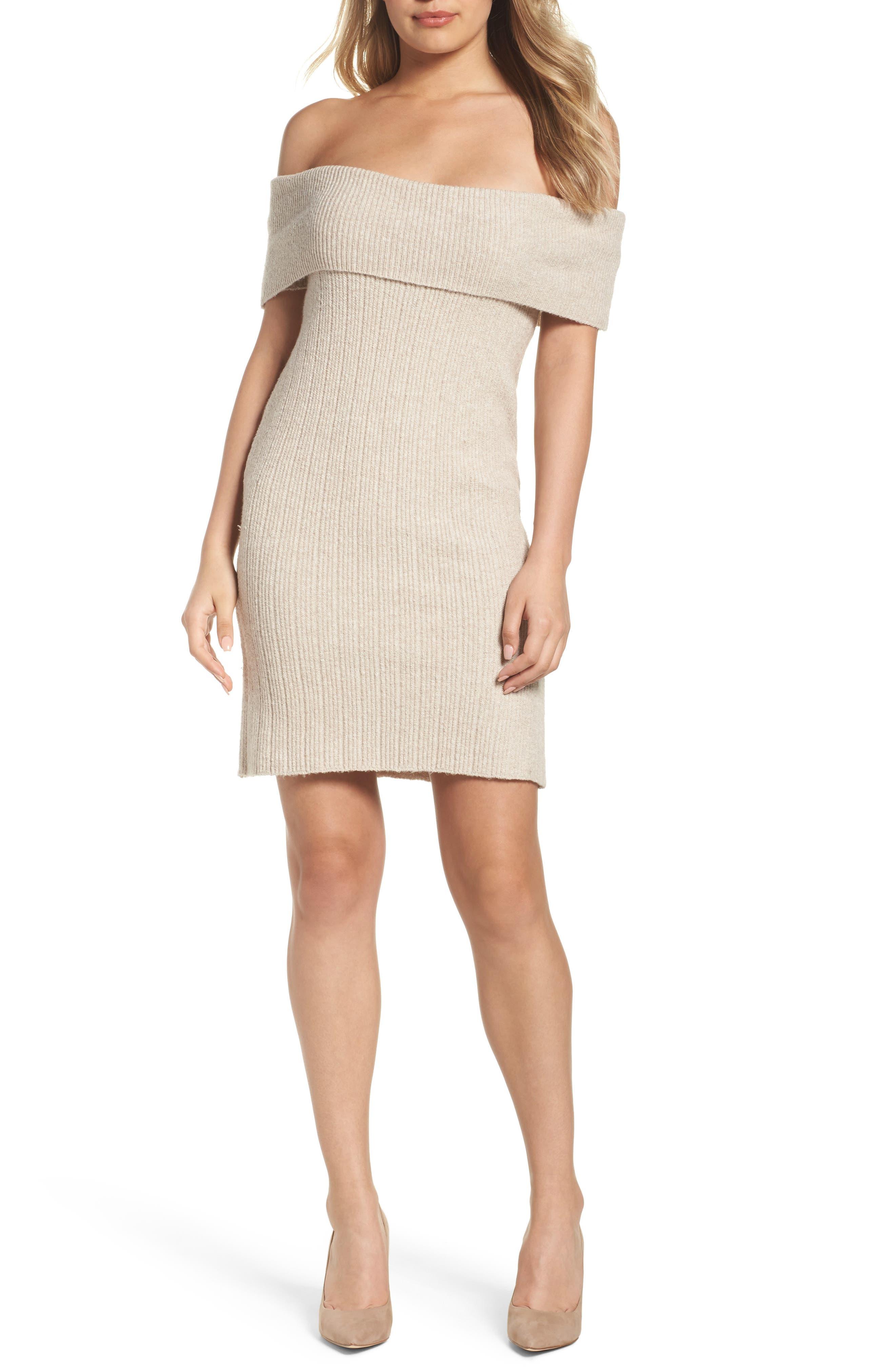 Main Image - BB Dakota Porter Off the Shoulder Sheath Dress