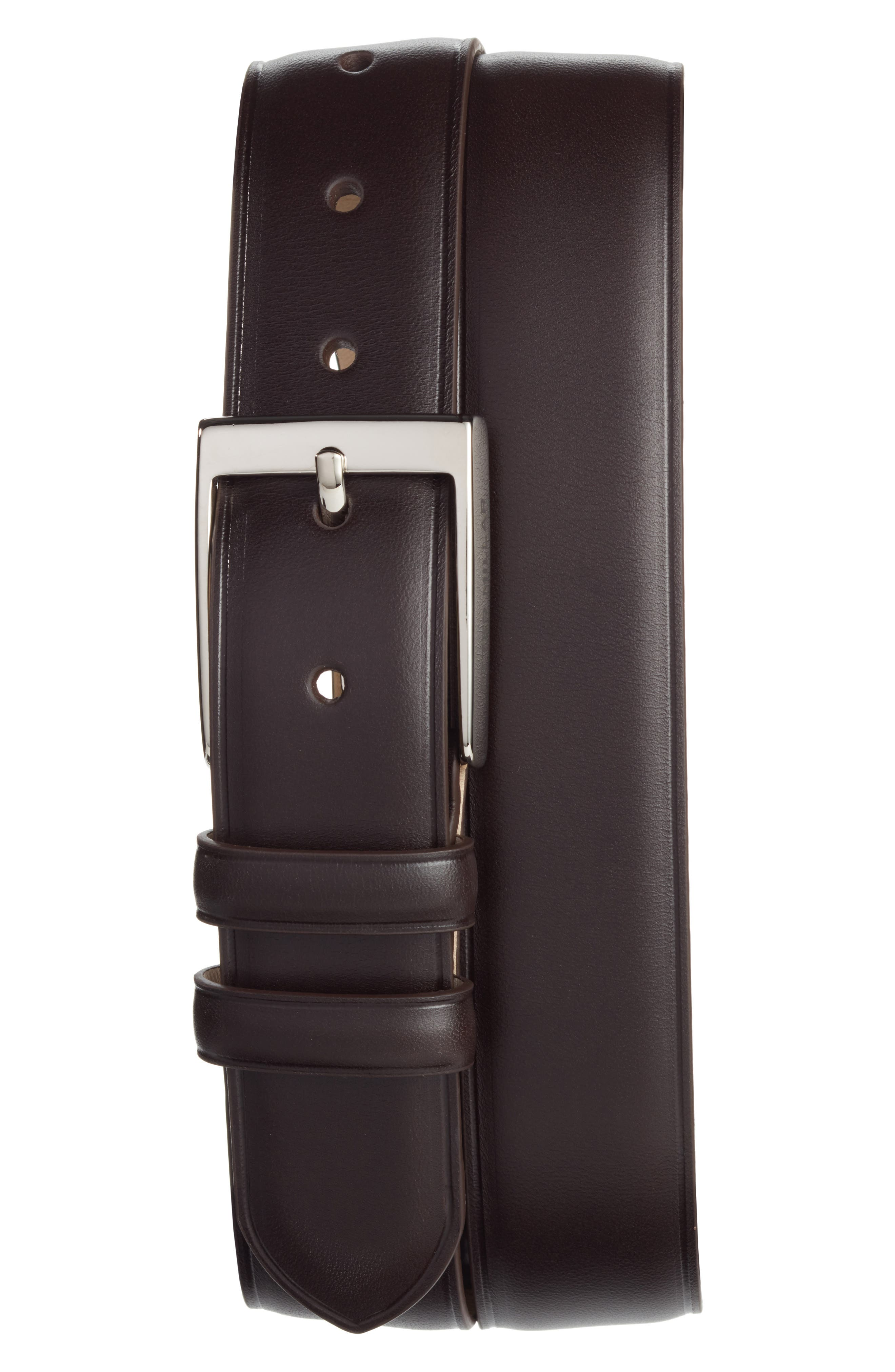 Classic Leather Dress Belt,                             Main thumbnail 1, color,                             Brown