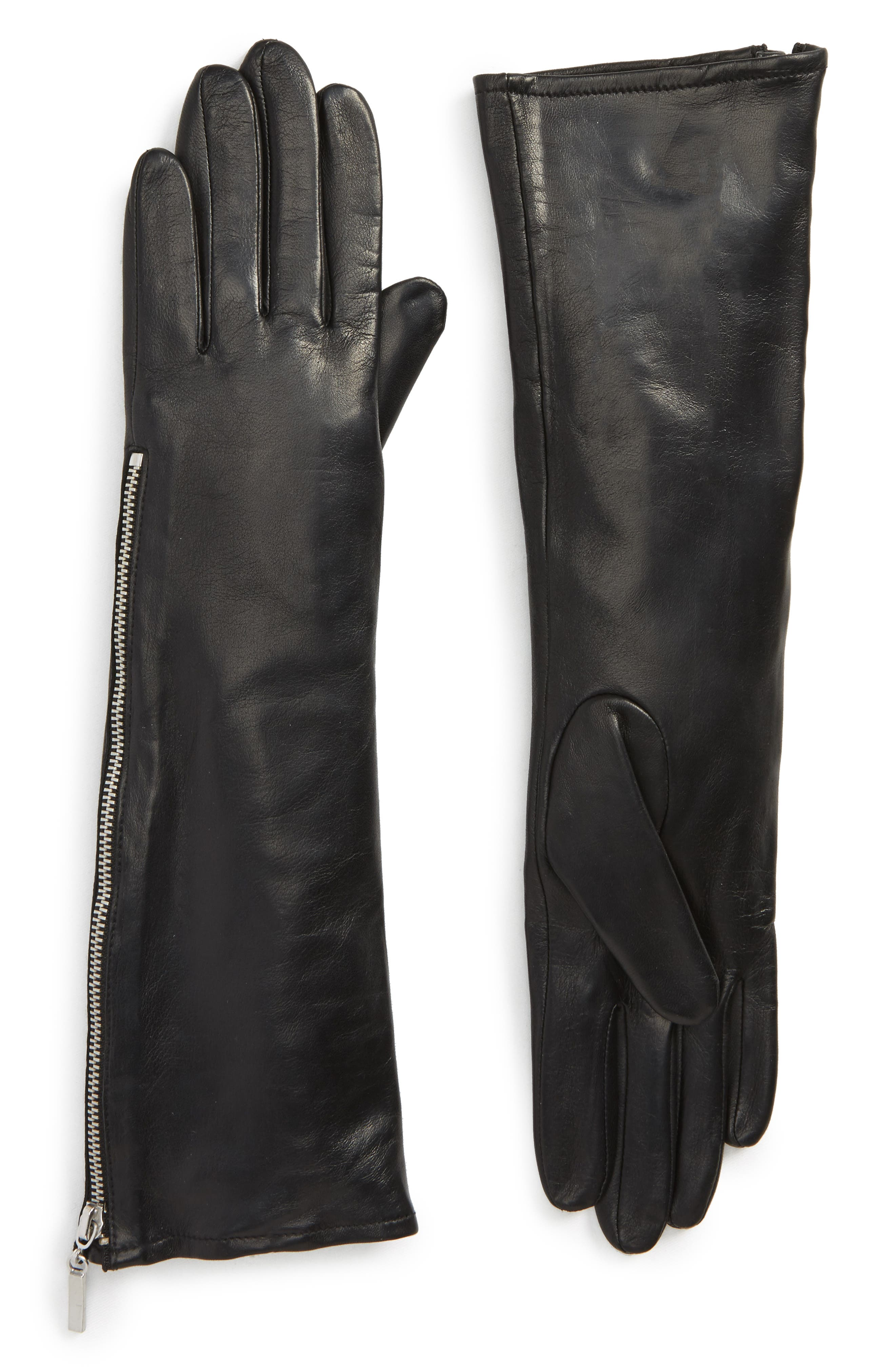 Fownes Brothers Side Zip Leather Gloves
