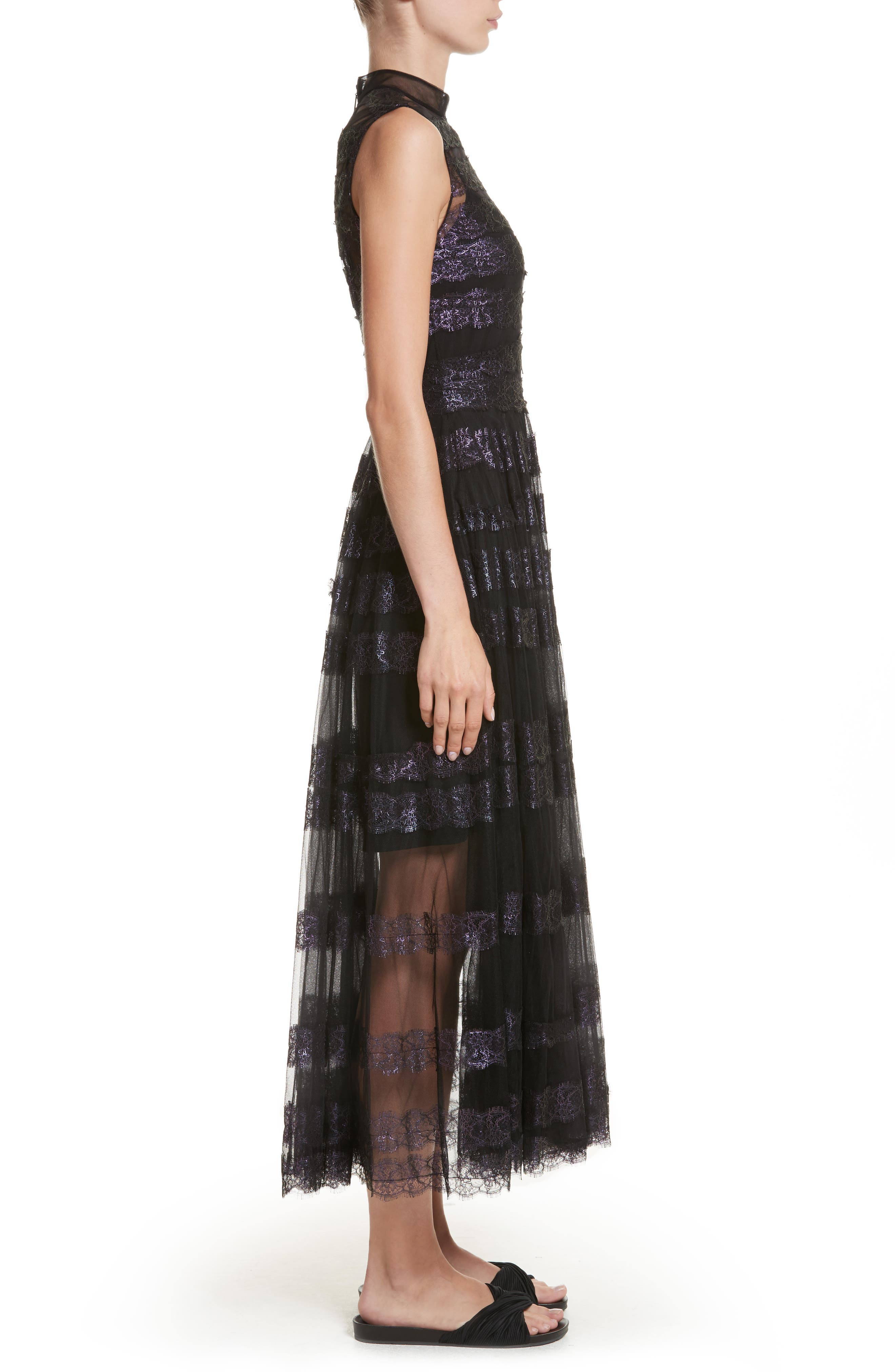 Alternate Image 3  - Christopher Kane Foiled Lace & Tulle Dress