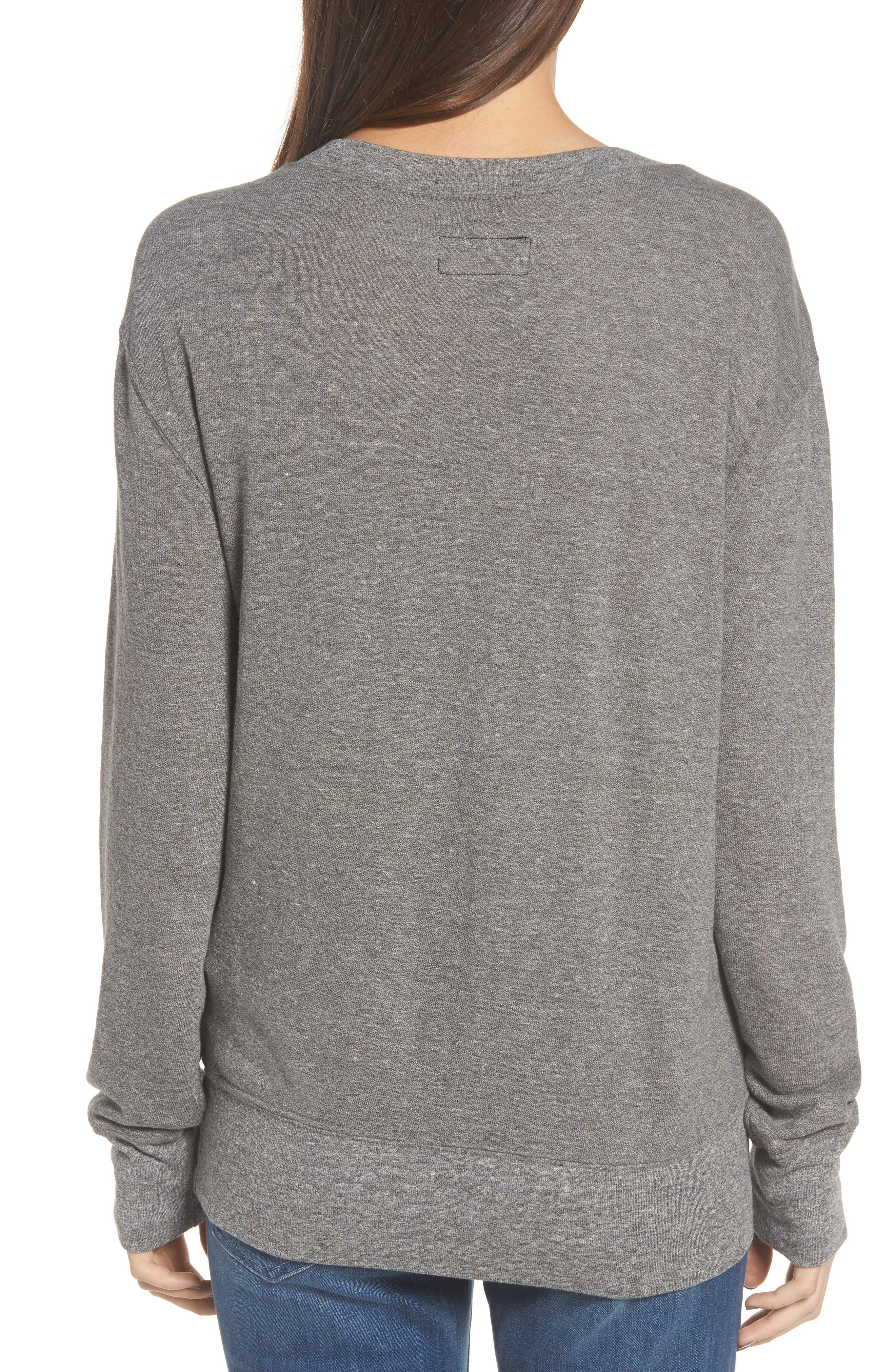 Alternate Image 2  - Current/Elliott Heathered Slouchy Sweatshirt