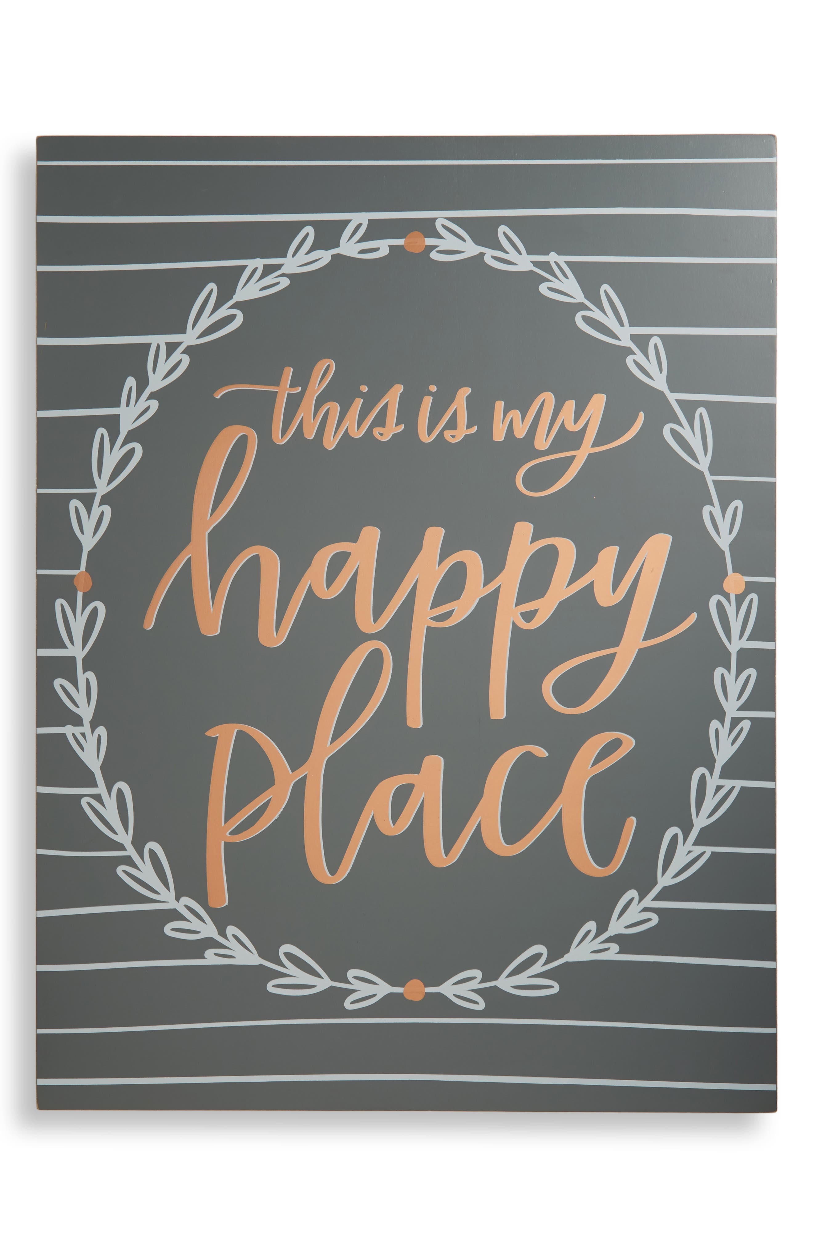 Primitives by Kathy Happy Place Box Sign
