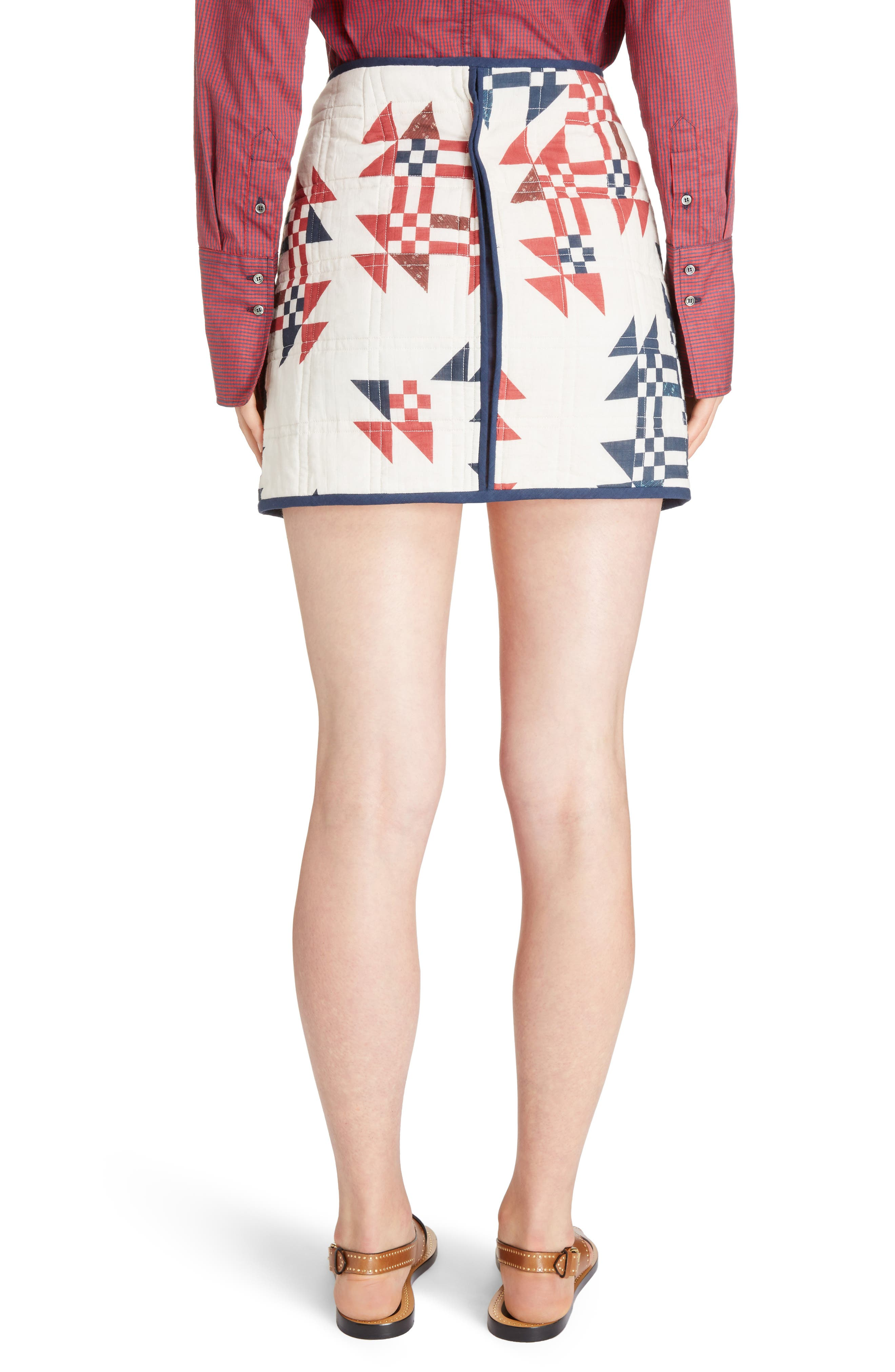 Alternate Image 2  - Isabel Marant Lickly Origami Quilted Cotton Skirt