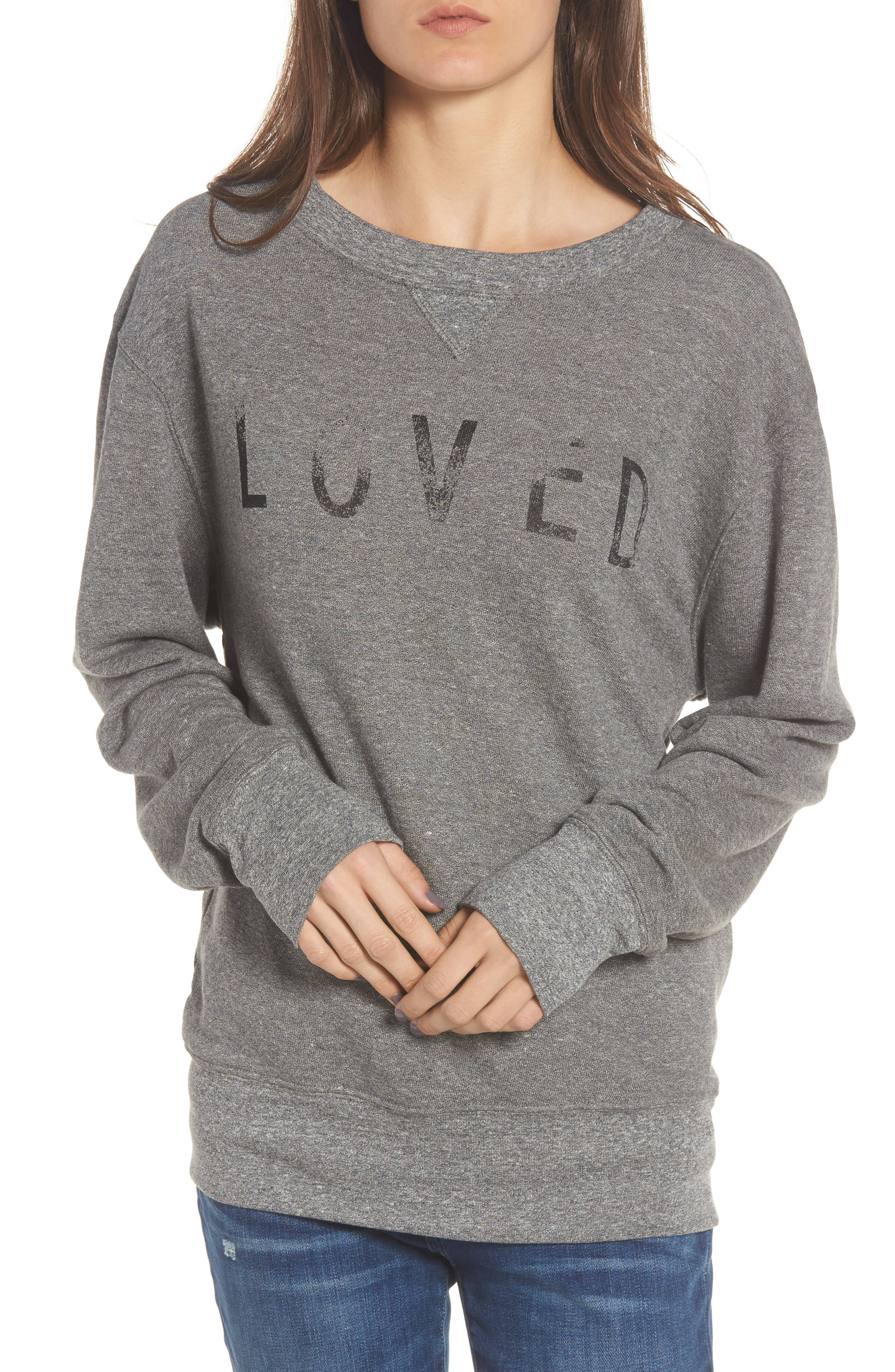 Main Image - Current/Elliott Heathered Slouchy Sweatshirt