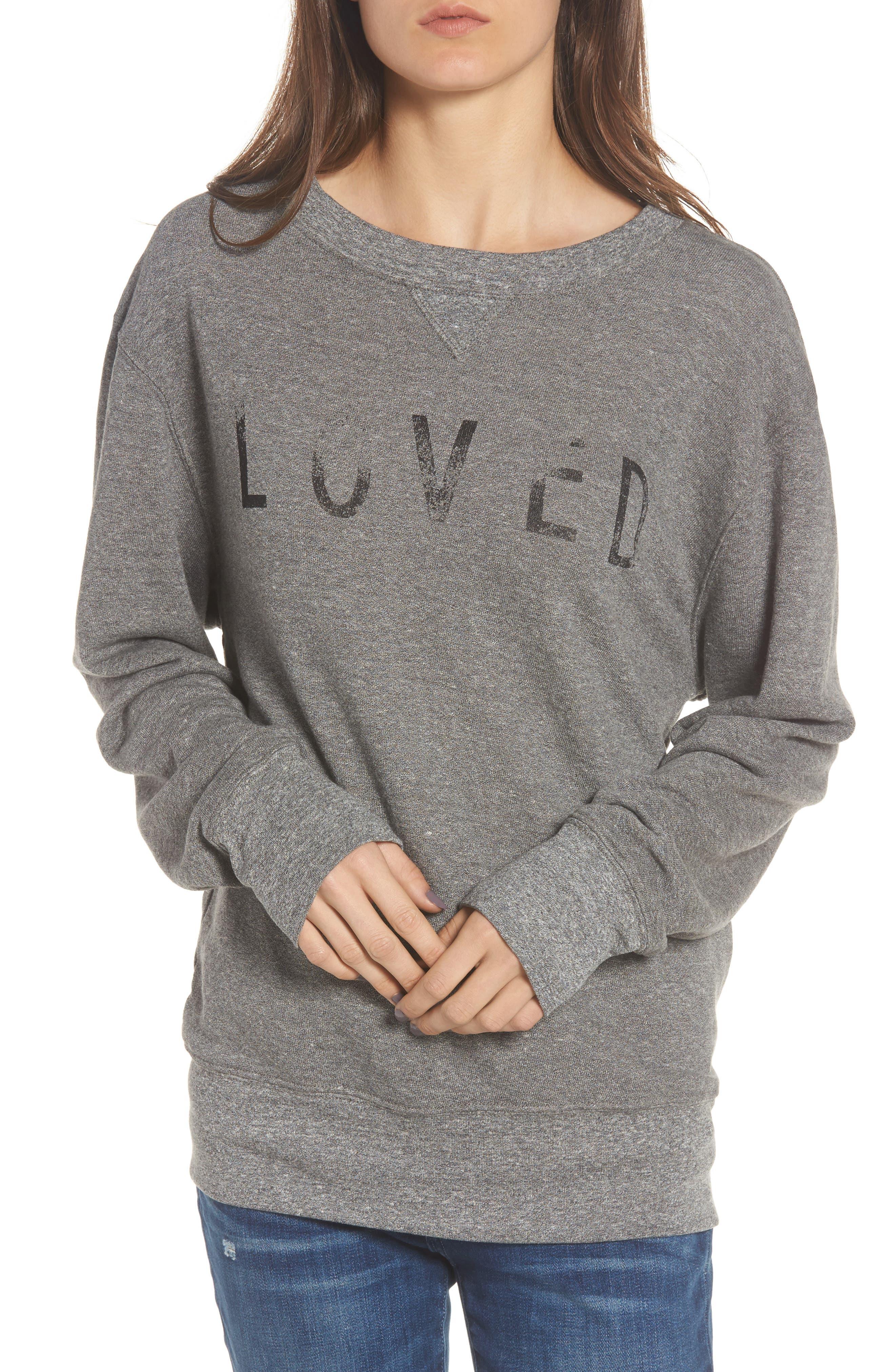 Heathered Slouchy Sweatshirt,                         Main,                         color, Hgry Love