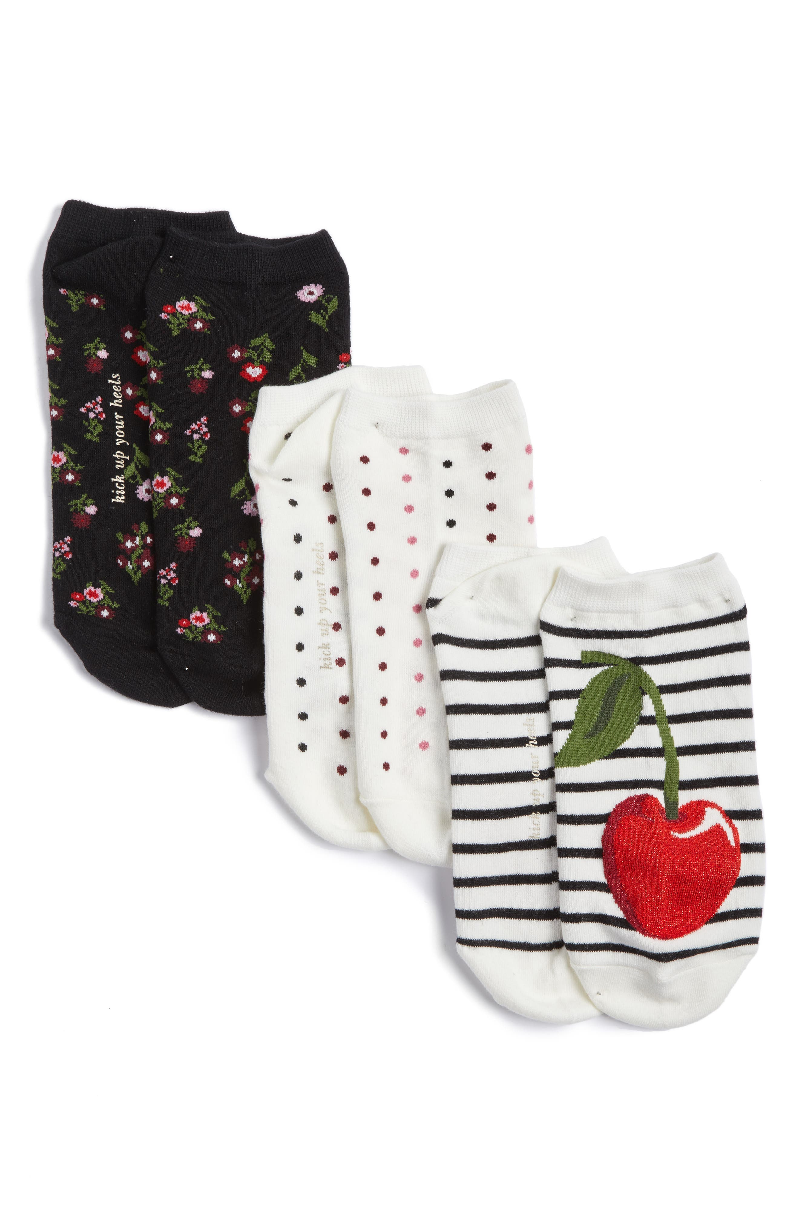 kate spade new york 3-pack no-show socks