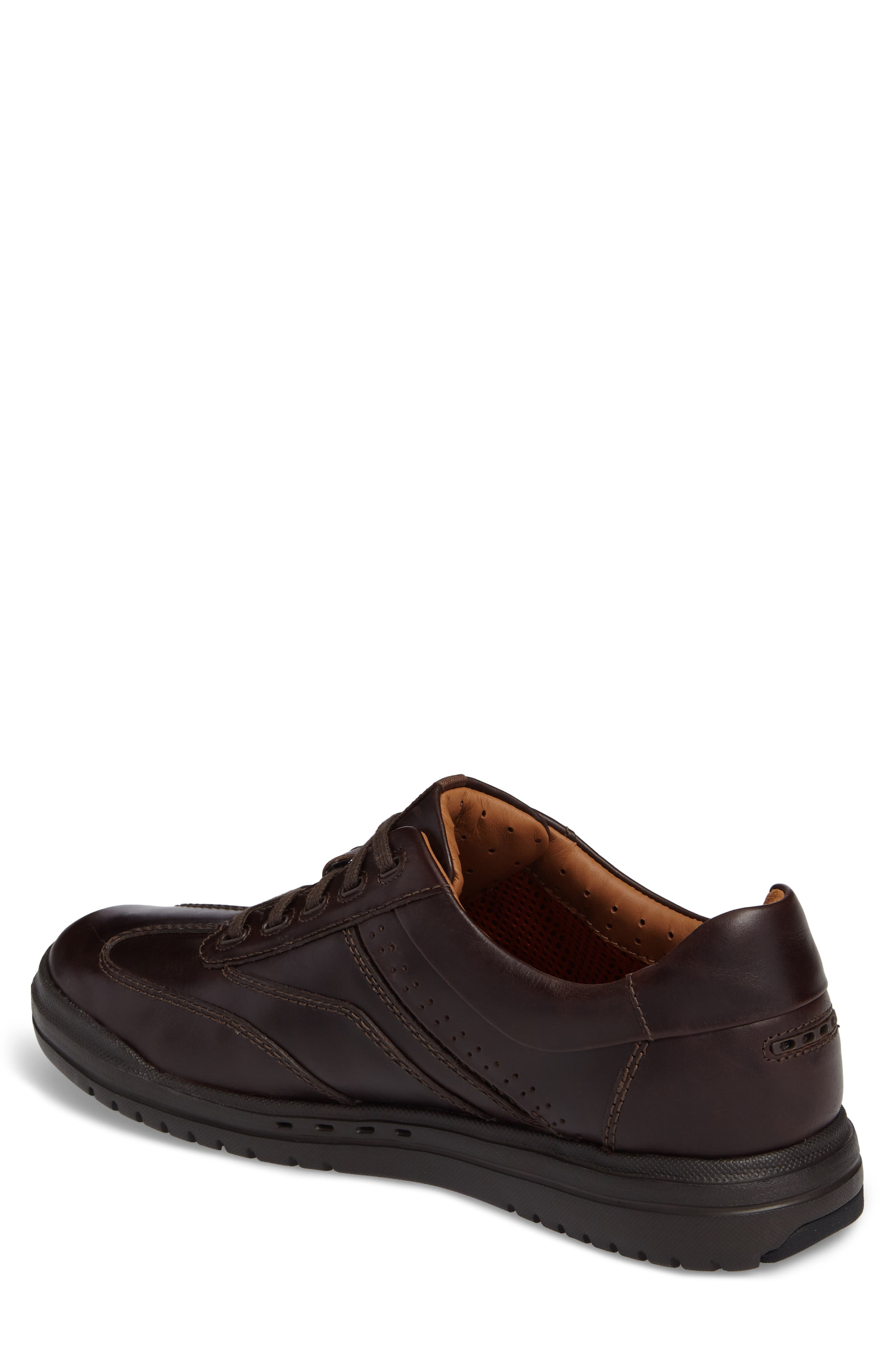 Un.Rhombus Fly Sneaker,                             Alternate thumbnail 2, color,                             Brown Leather