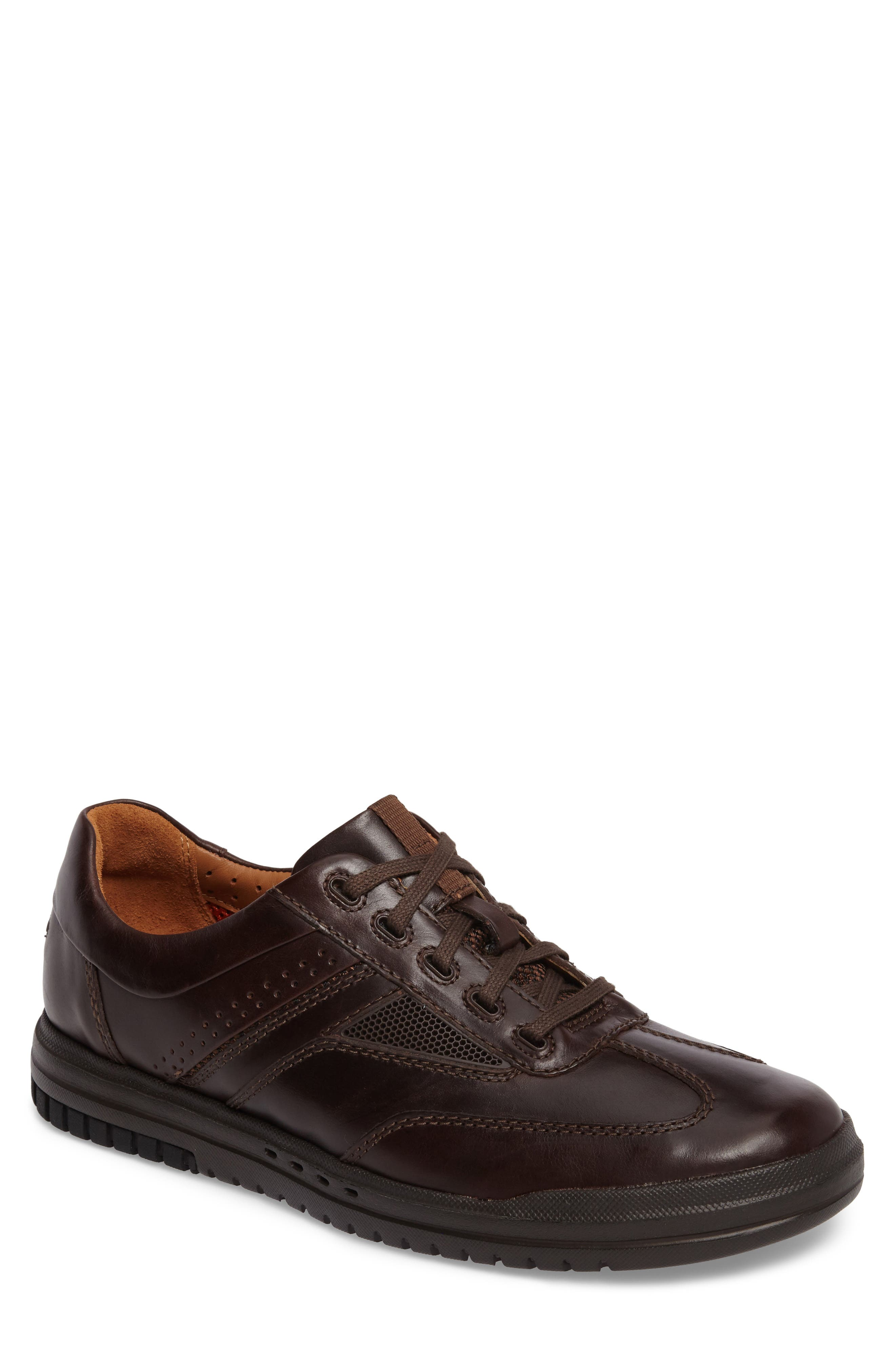 Un.Rhombus Fly Sneaker,                             Main thumbnail 1, color,                             Brown Leather