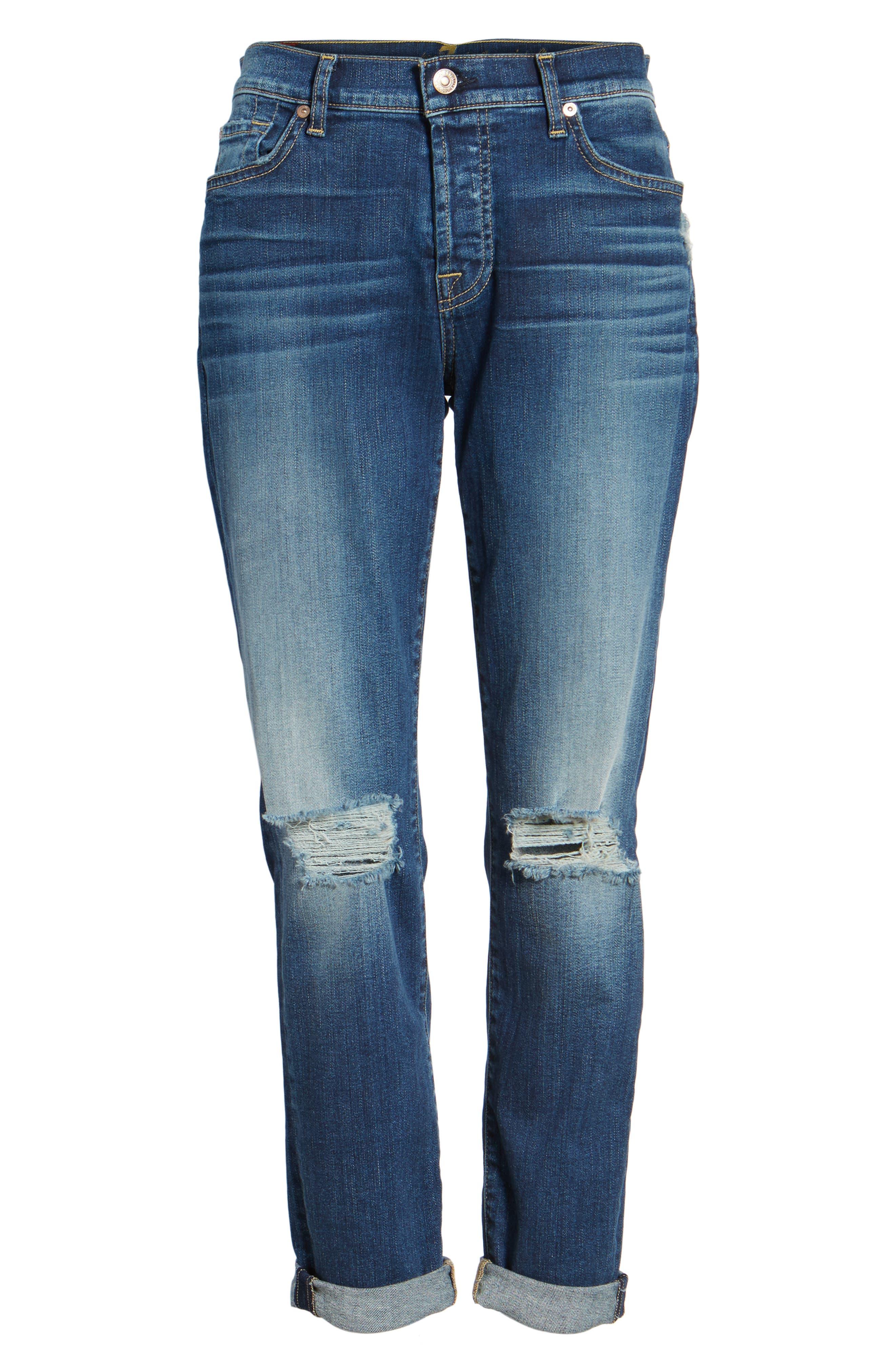 Alternate Image 6  - 7 For All Mankind® Josefina Destroyed Boyfriend Jeans (Liberty)