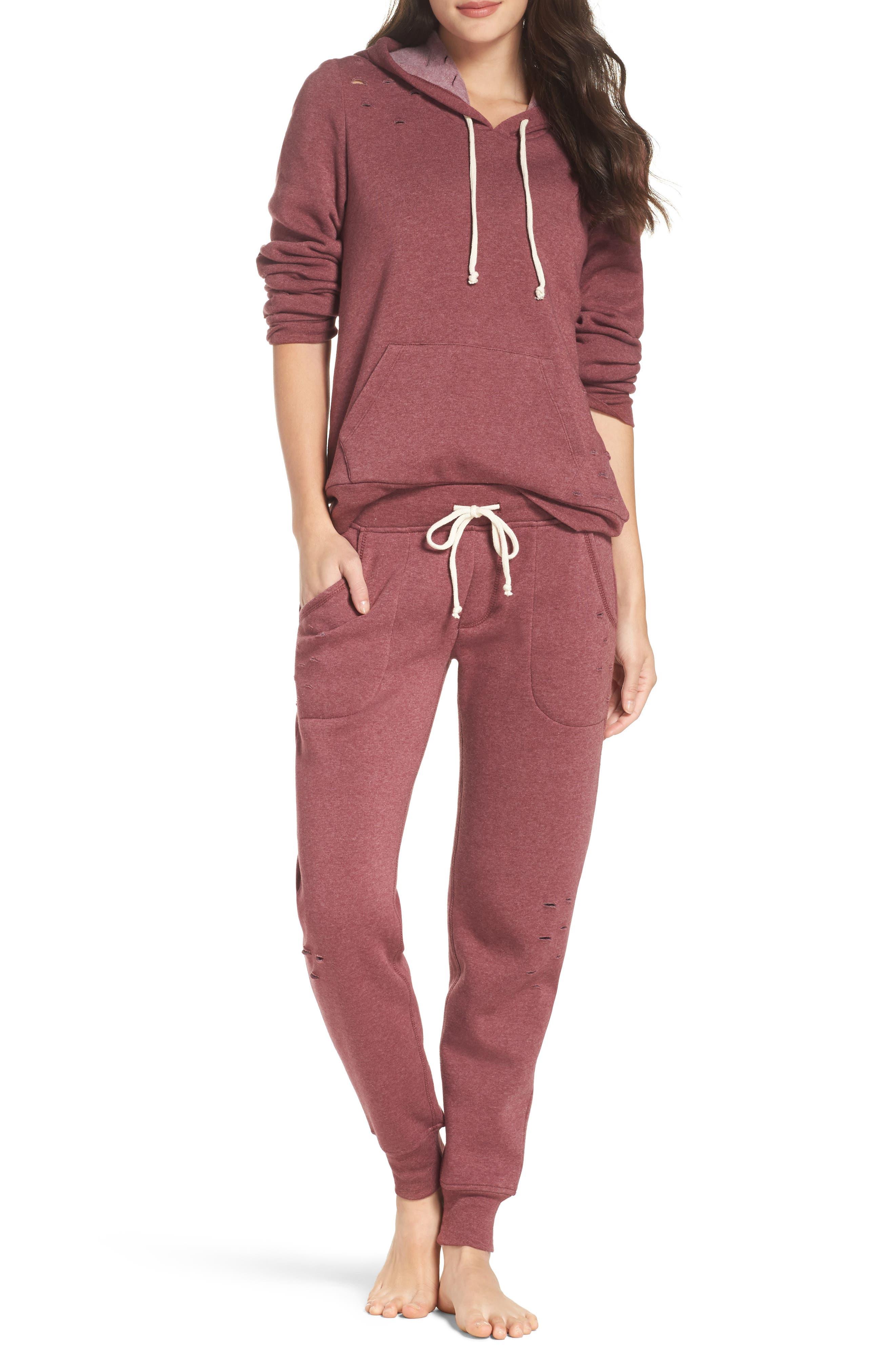 Alternate Image 5  - Alternative Distressed Eco Fleece Jogger Pants