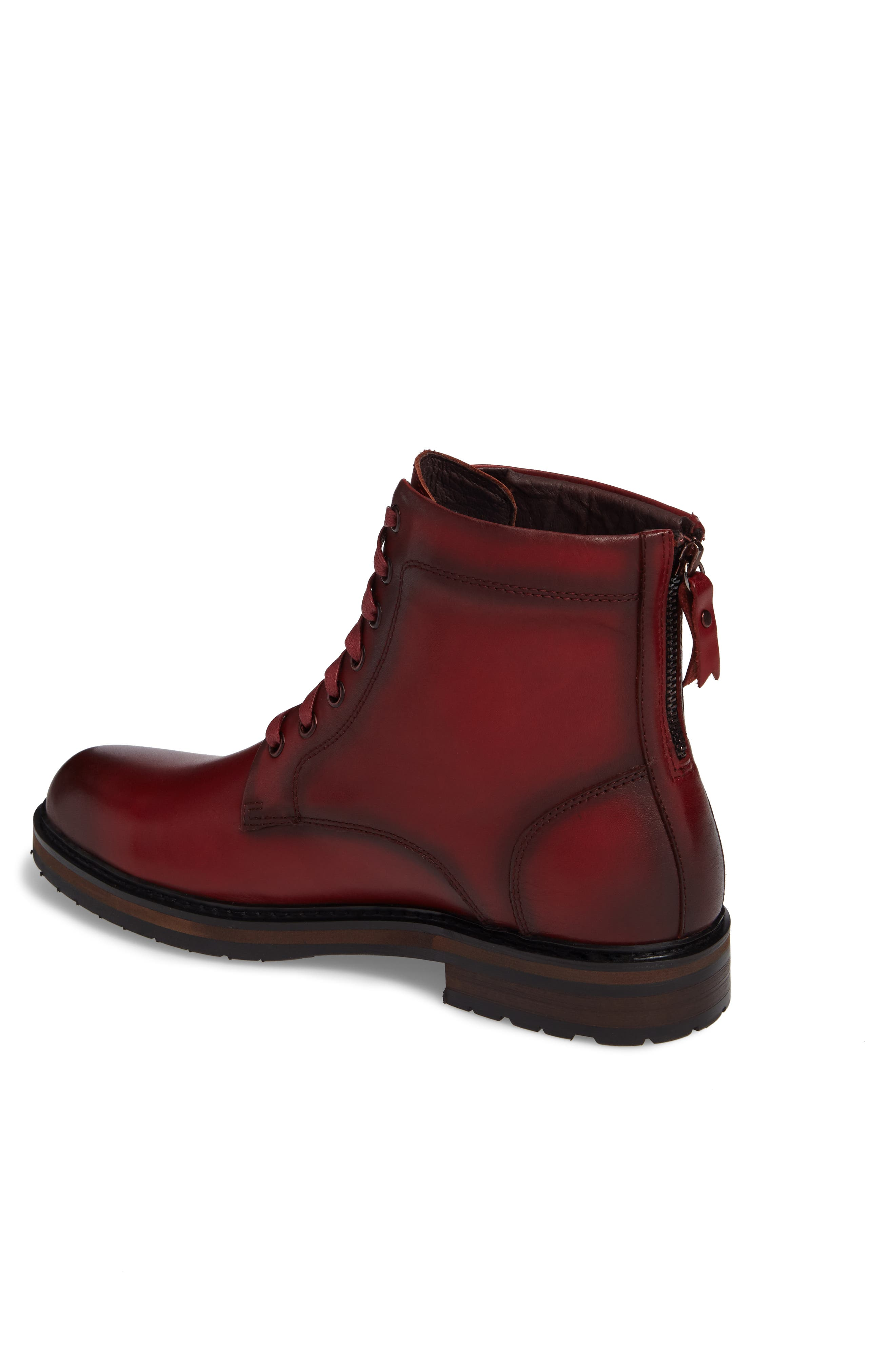 Miro Combat Boot,                             Alternate thumbnail 2, color,                             Wine Leather