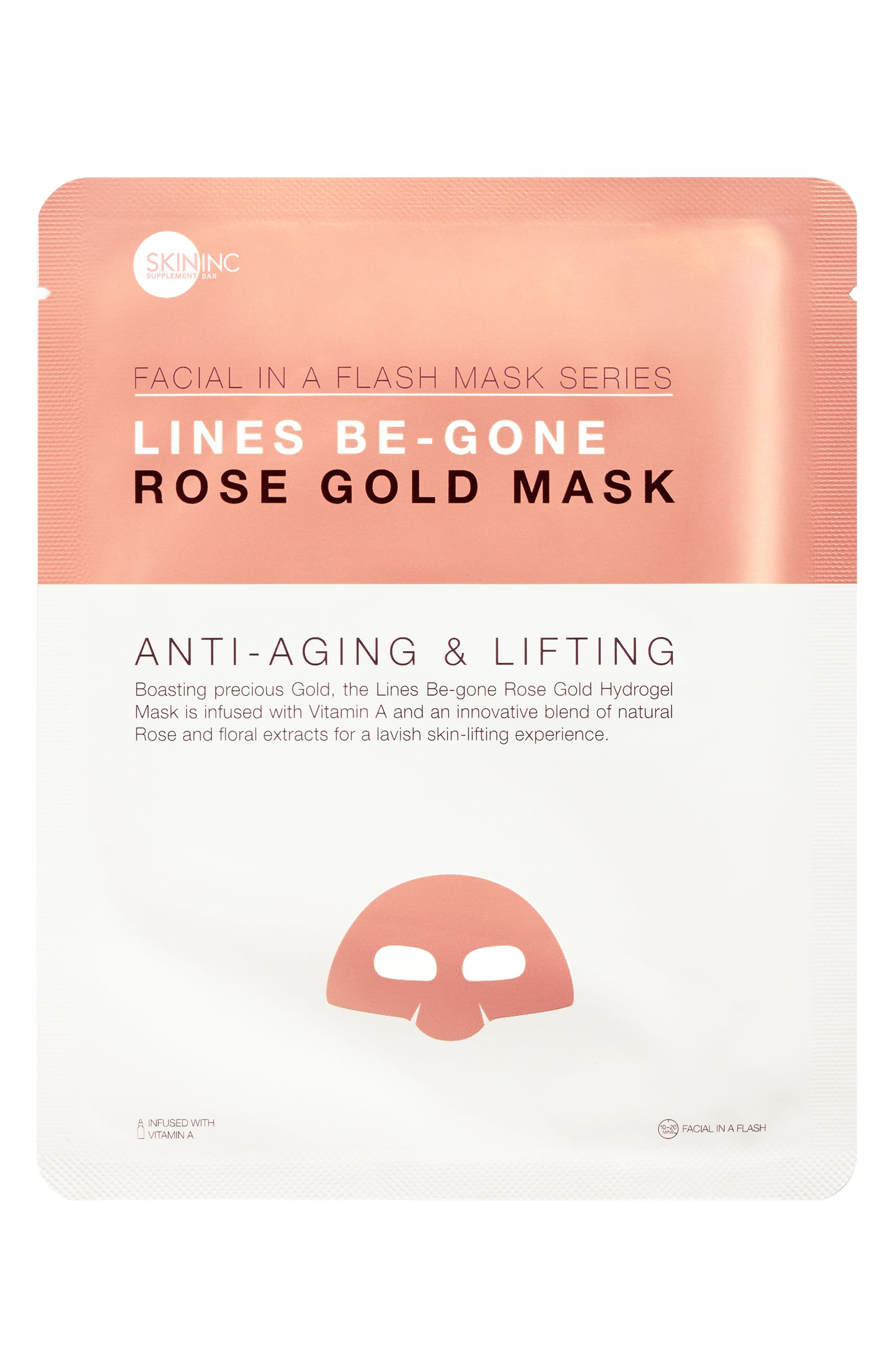Lines Be-Gone Rose Gold Mask,                             Alternate thumbnail 2, color,                             No Color