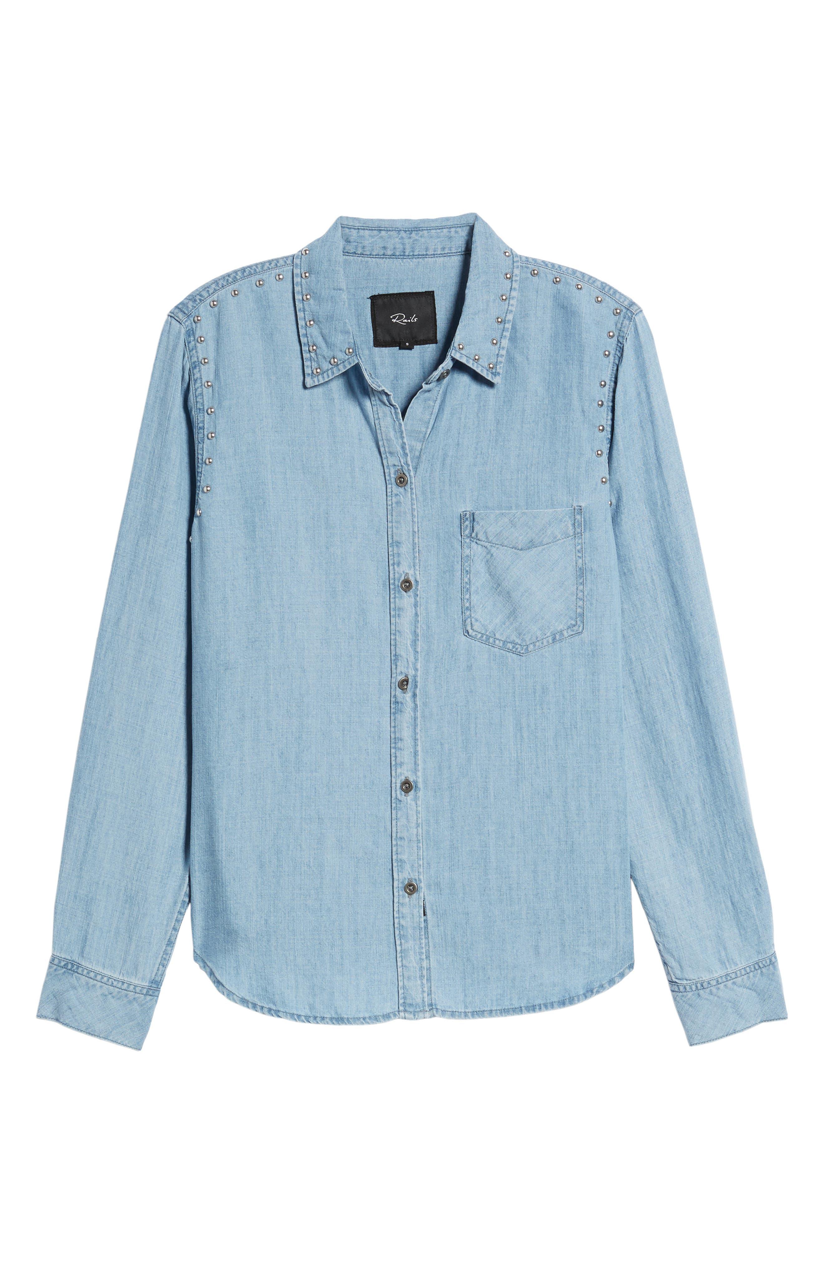 Alternate Image 7  - Rails Ingrid Studded Shirt