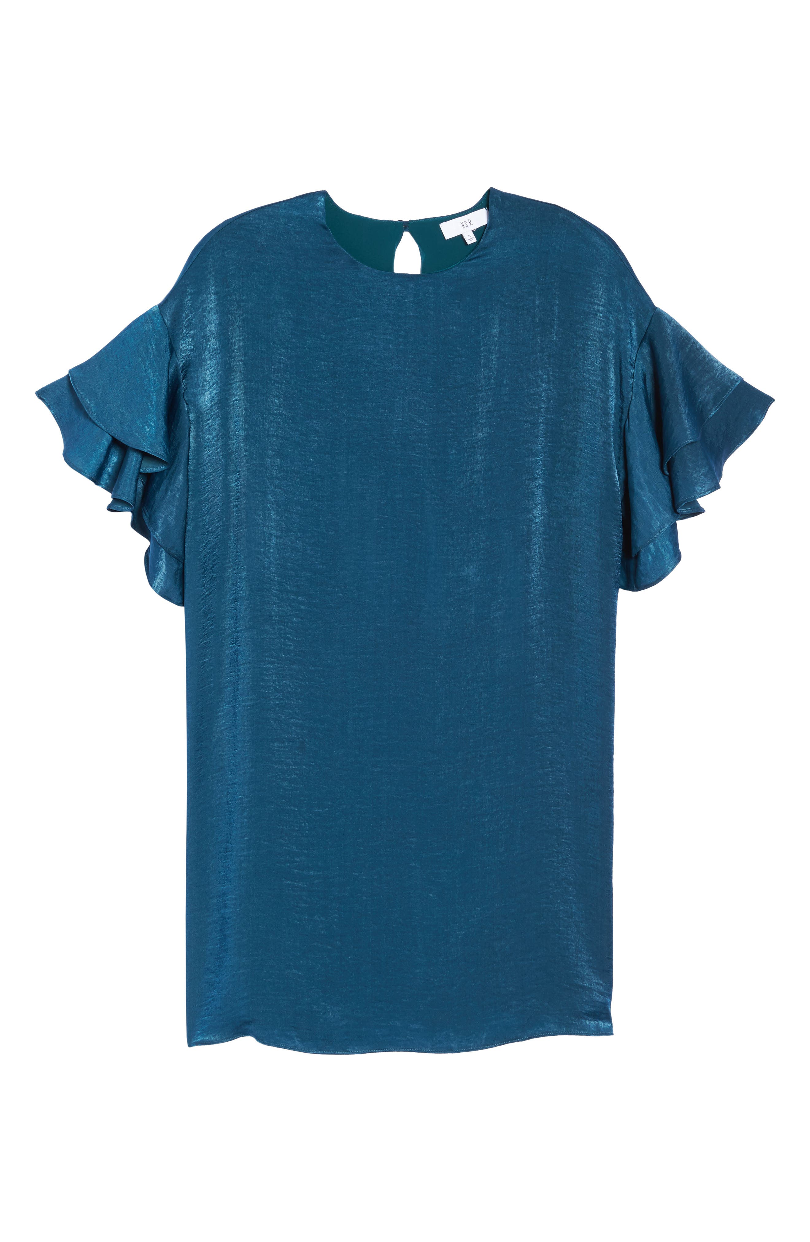 Alternate Image 6  - NSR Ruffle Charmeuse Shift Dress