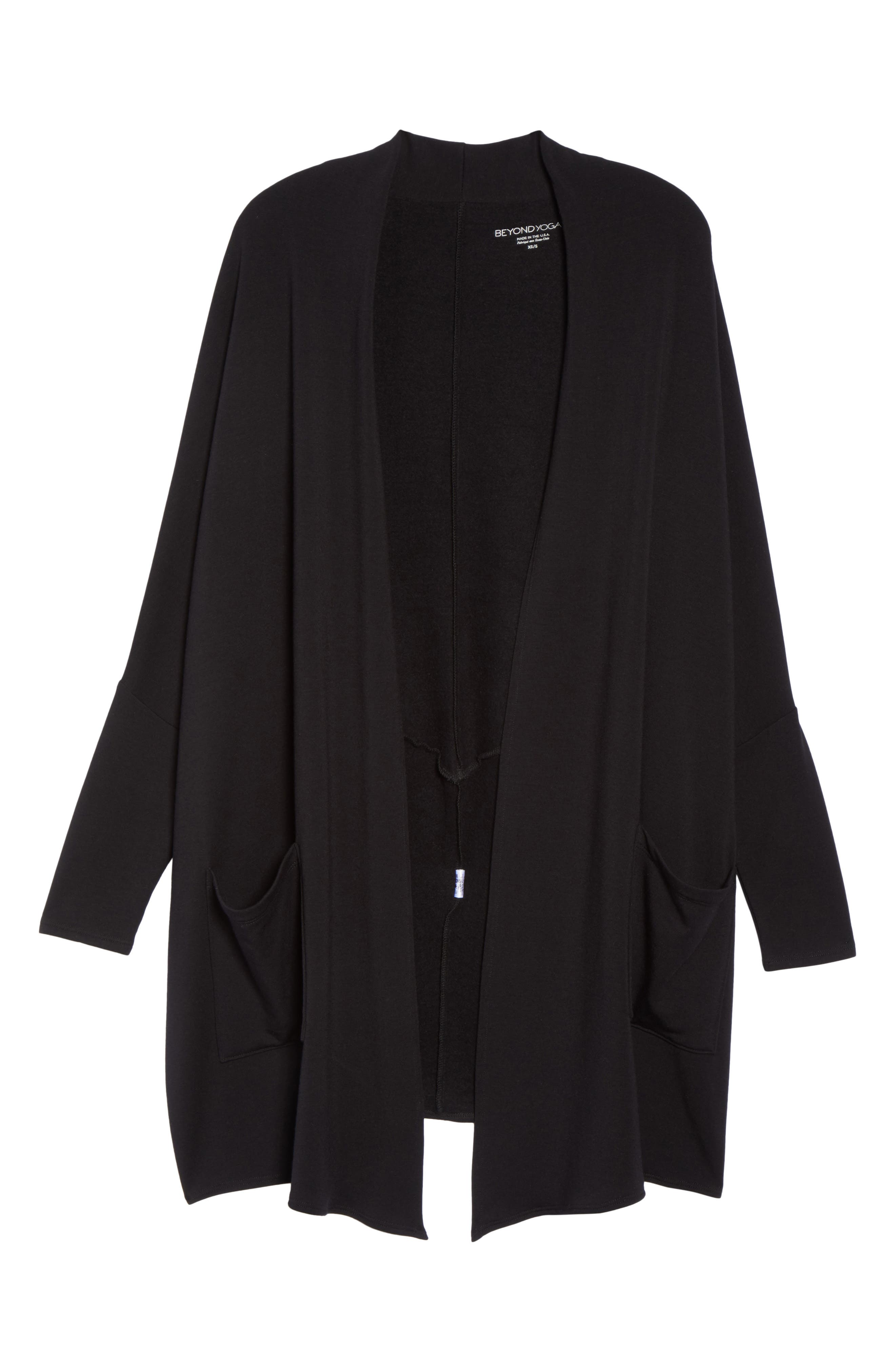 Easy Rider Origami Cardigan,                             Alternate thumbnail 7, color,                             Black