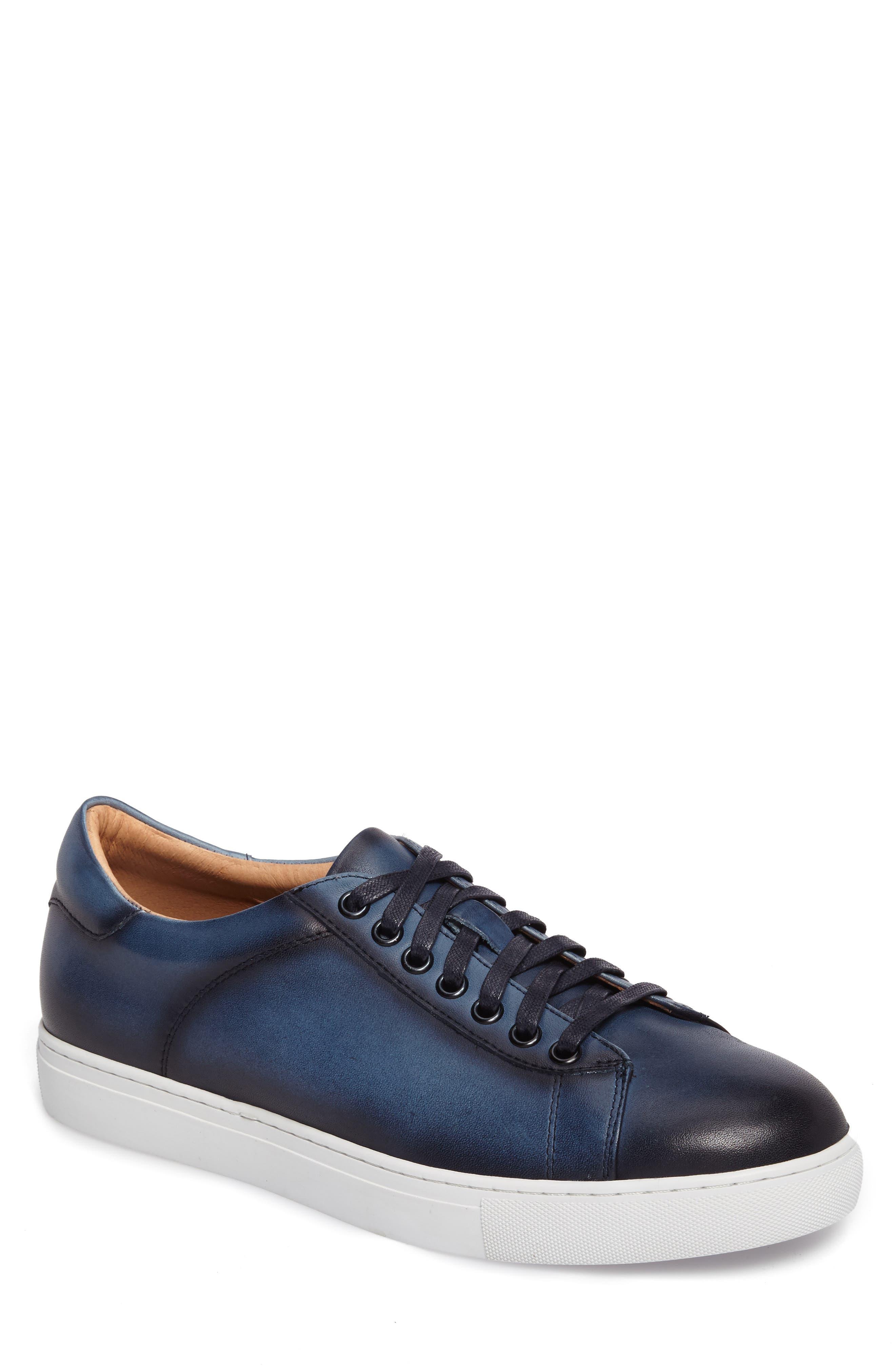Penrose Sneaker,                         Main,                         color, Blue Leather