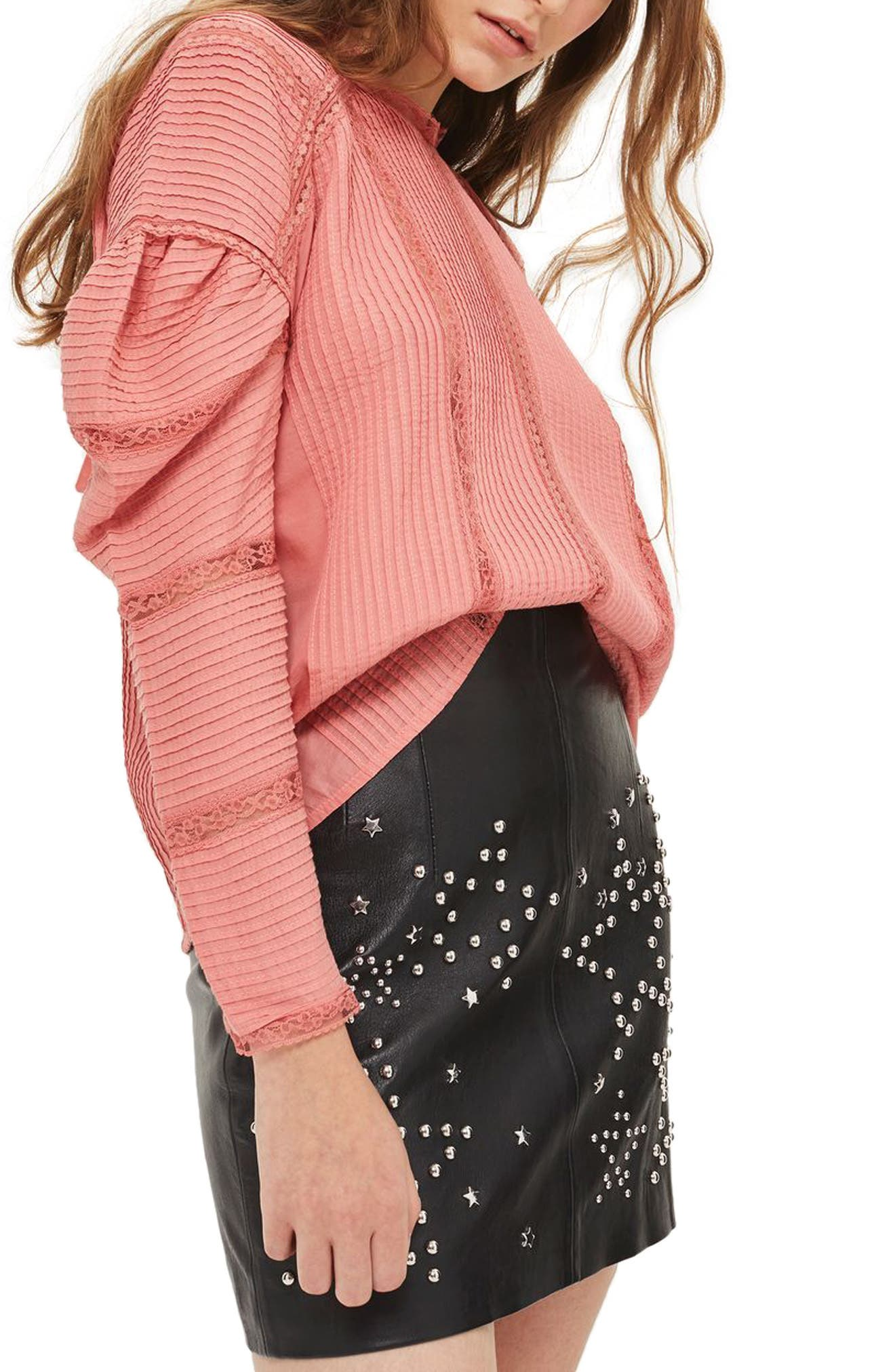 Alternate Image 3  - Topshop Statement Sleeve Pintuck Blouse