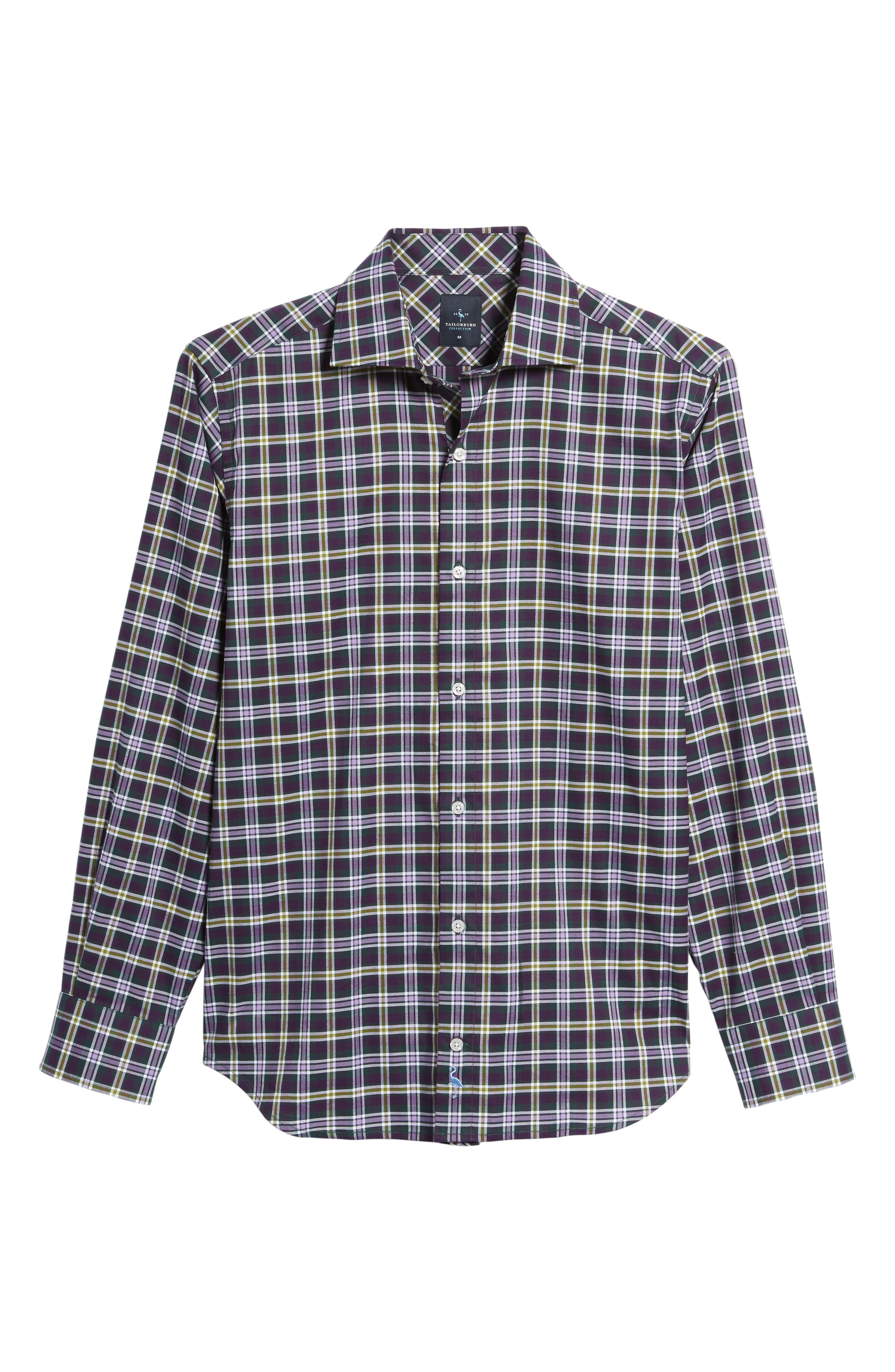 Alternate Image 6  - TailorByrd Calhoun Regular Fit Check Sport Shirt