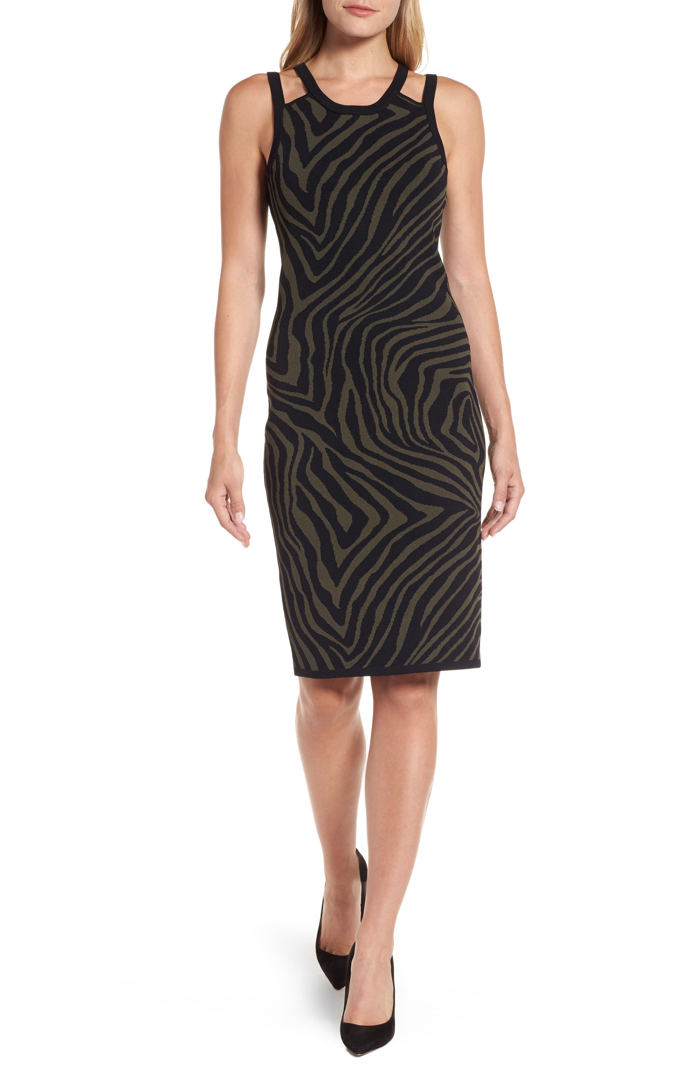 Double Trim Tank Dress,                         Main,                         color, Ivy