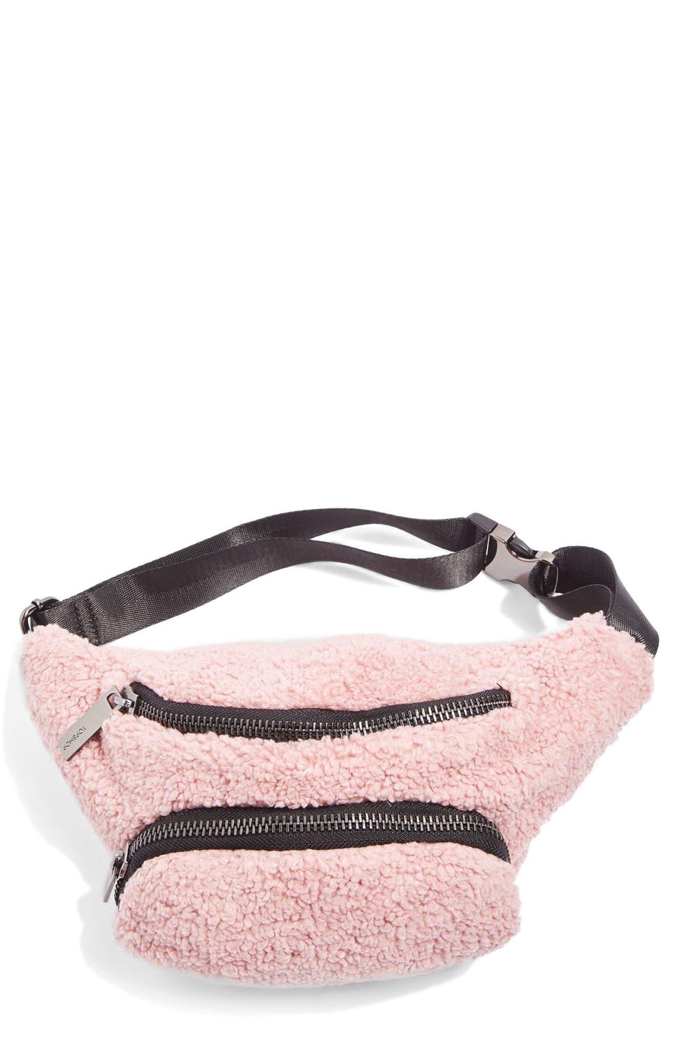 Main Image - Topshop Benny Borg Belt Bag
