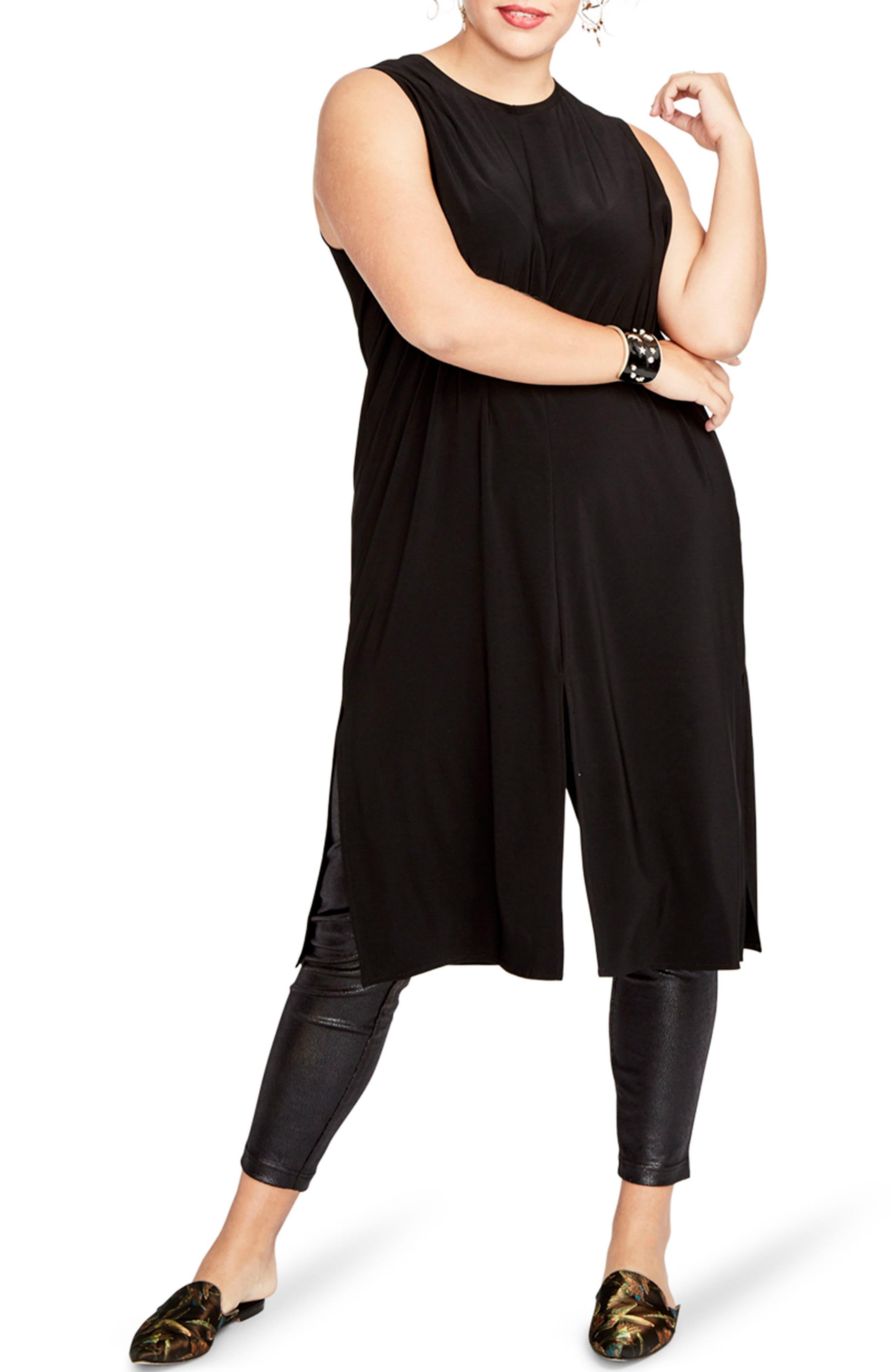 RACHEL Rachel Roy Overlay Tunic (Plus Size)