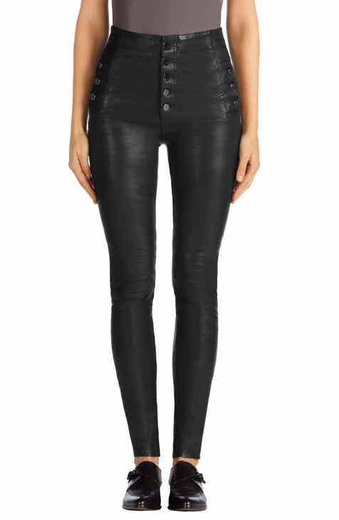 8061b3a1665 J Brand Natasha High Waist Skinny Leather Pants