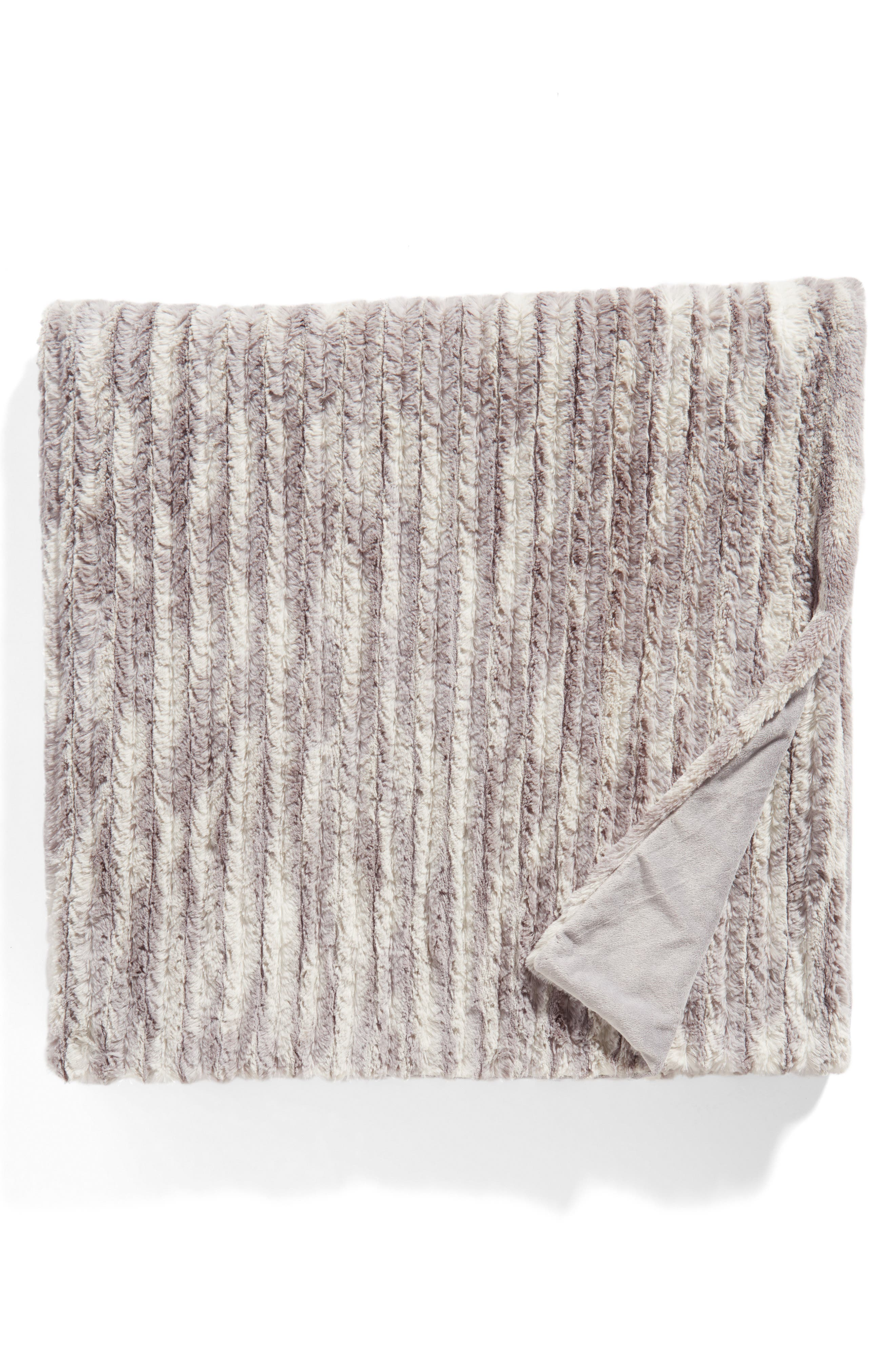 Main Image - Nordstrom Cozy Plush Faux Fur Blanket