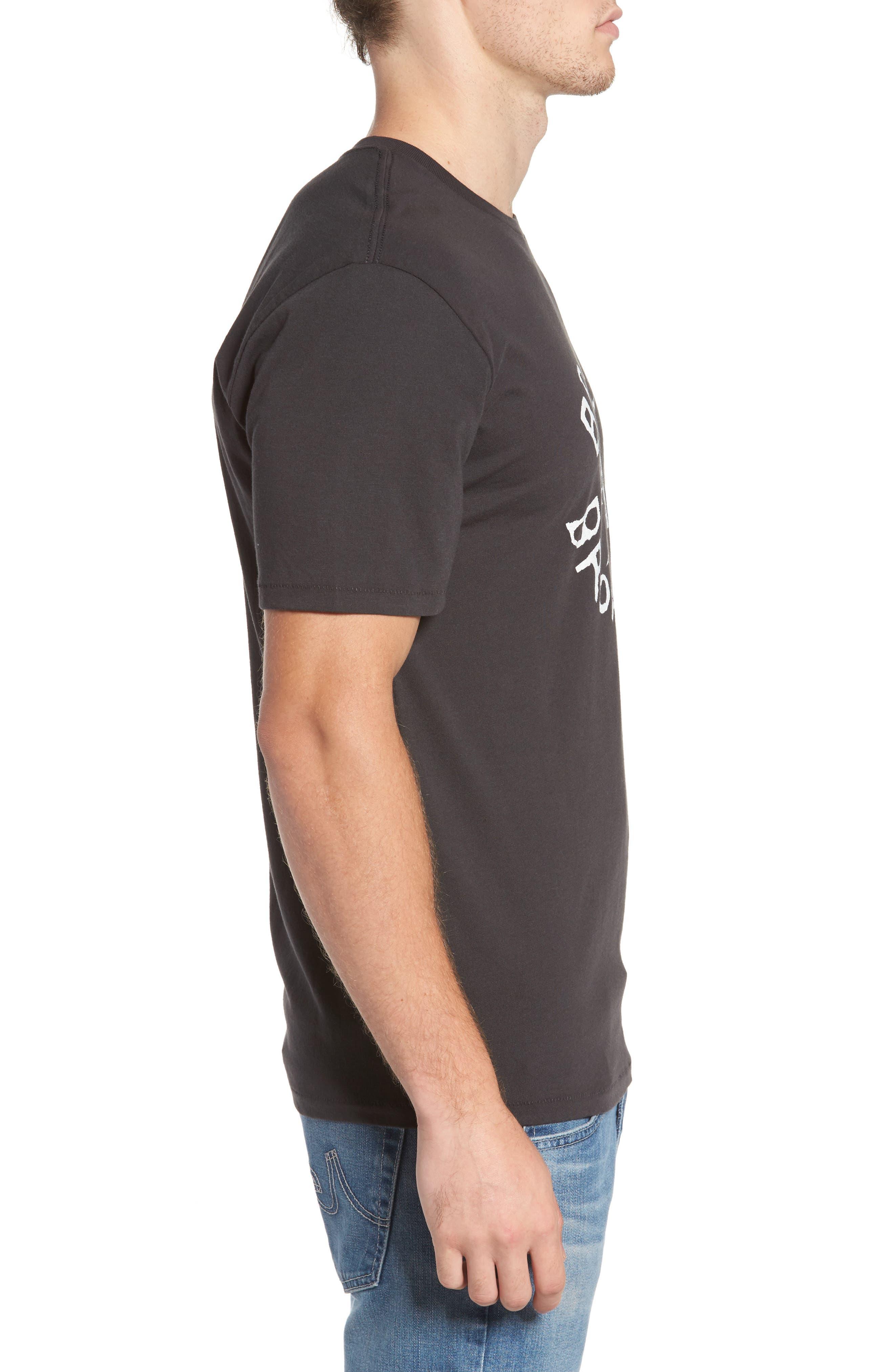 Broadcast T-Shirt,                             Alternate thumbnail 3, color,                             Washed Black