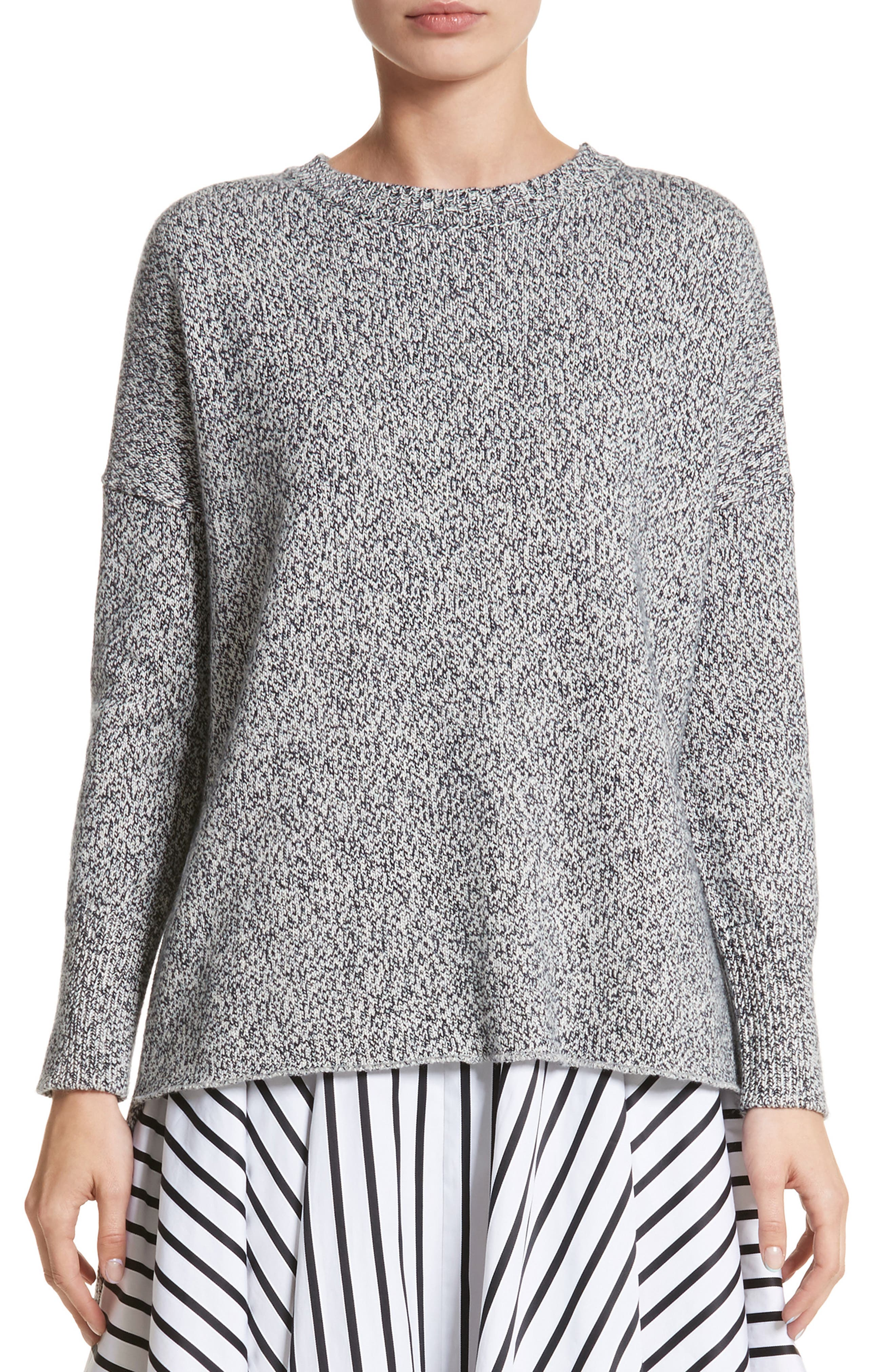 Marled Cotton, Cashmere & Silk Sweater,                         Main,                         color, Grey