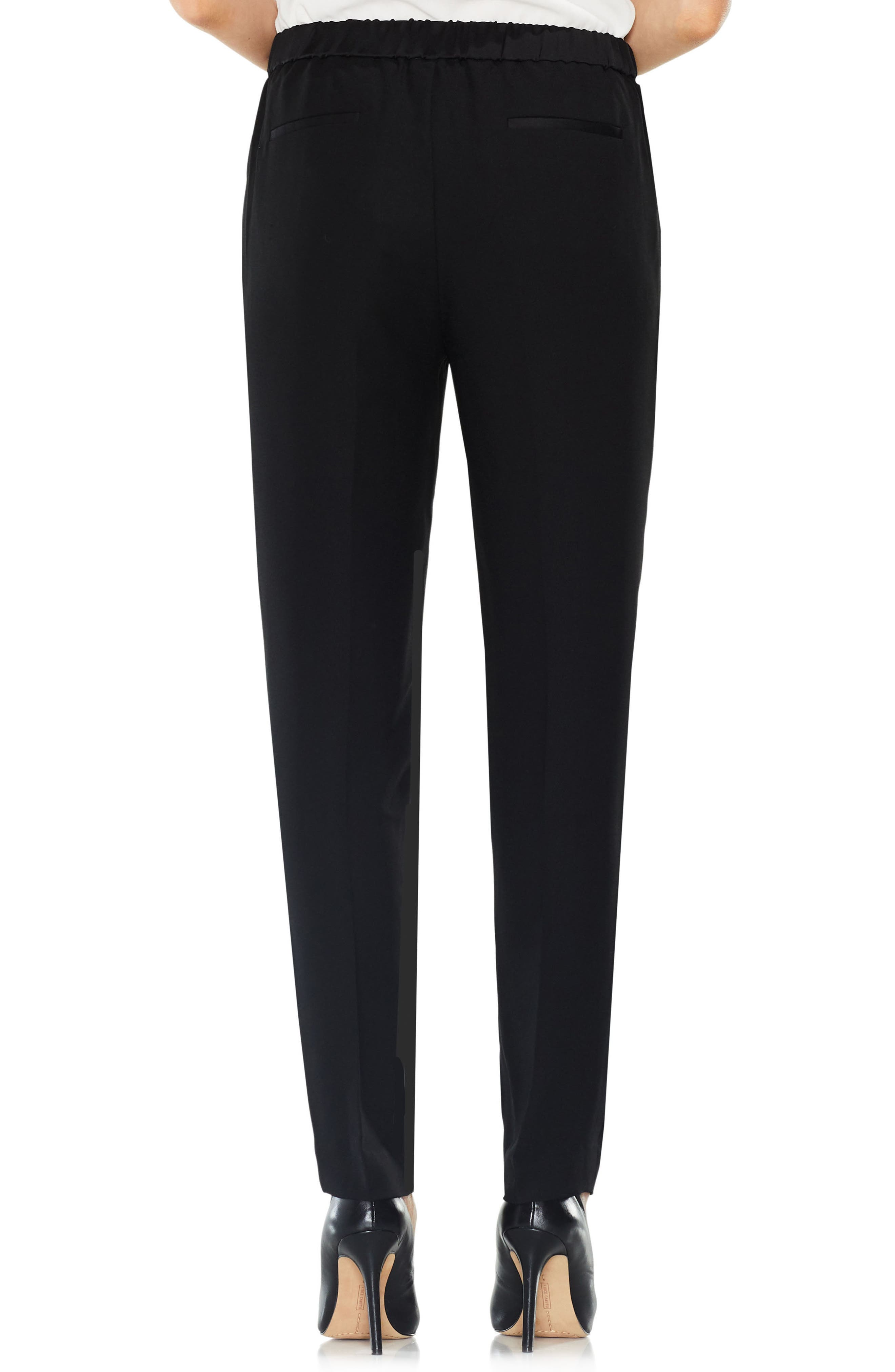 Alternate Image 3  - Vince Camuto Matte Shine Slim Leg Crepe Pants