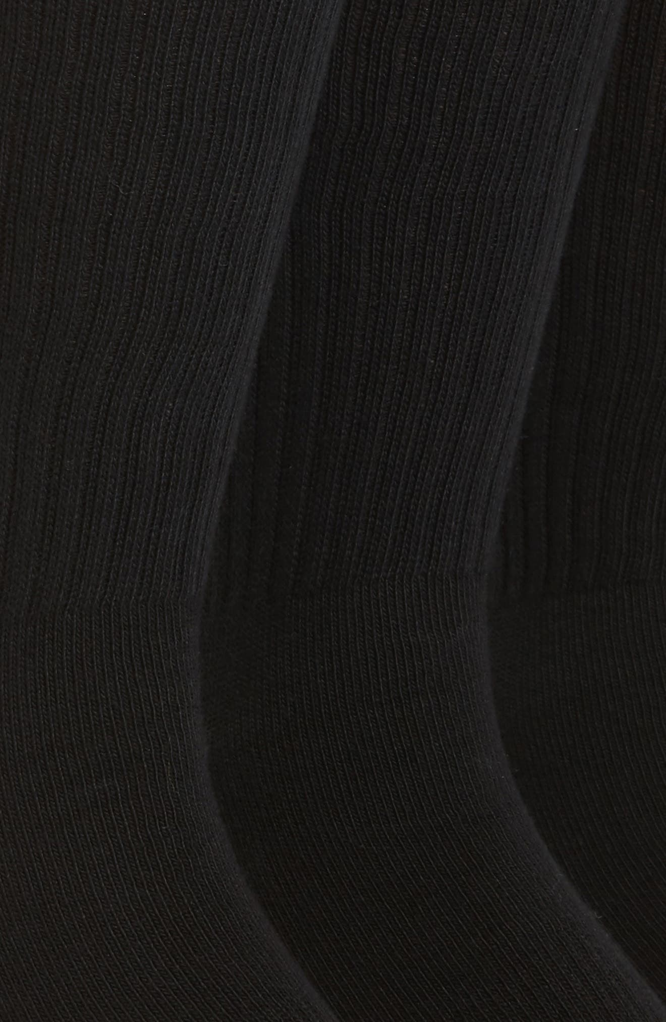 3-Pack Crew Cut Athletic Socks,                             Alternate thumbnail 2, color,                             Black