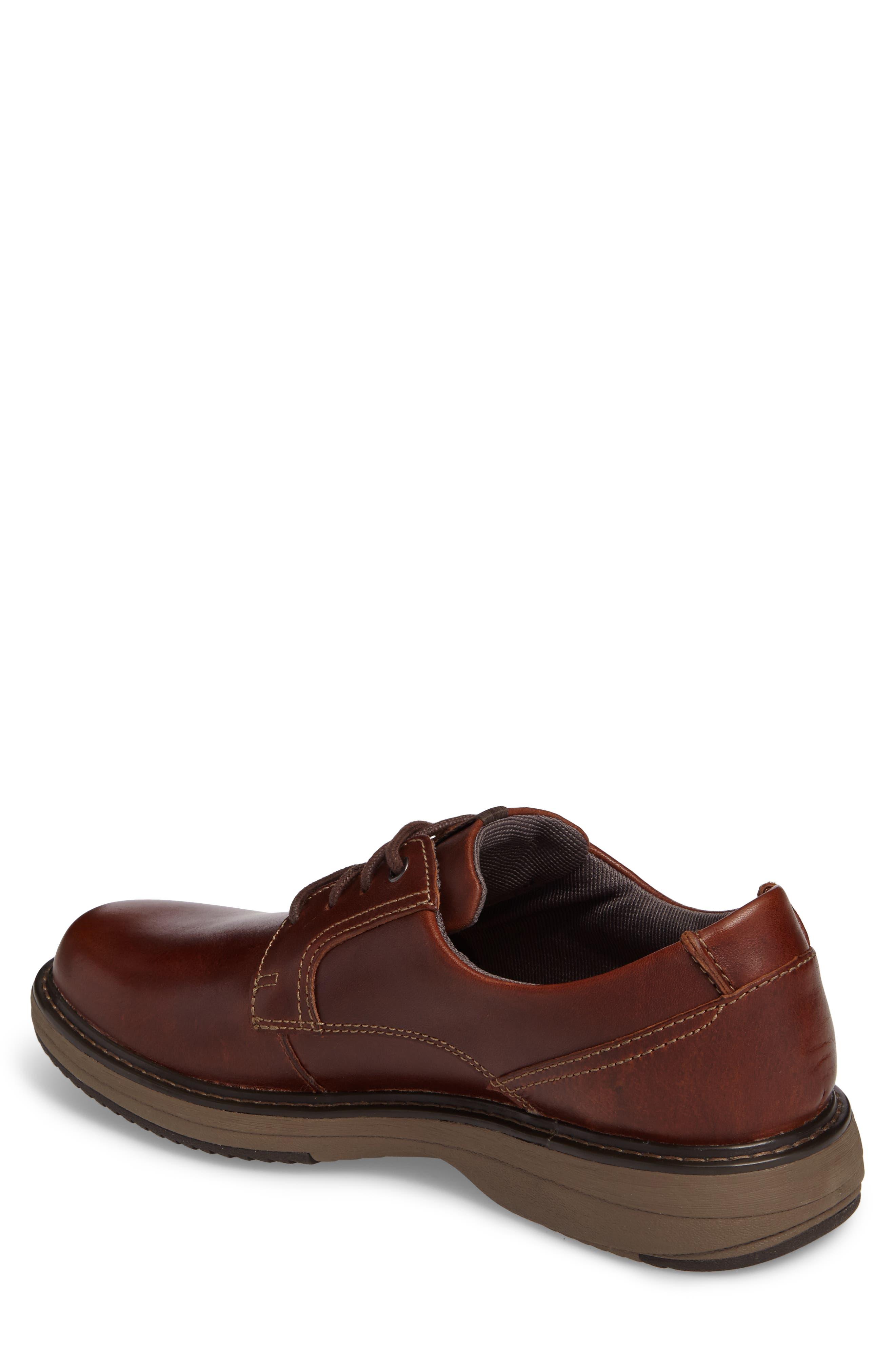 Cushox Plain Toe Derby,                             Alternate thumbnail 2, color,                             Dark Tan Leather