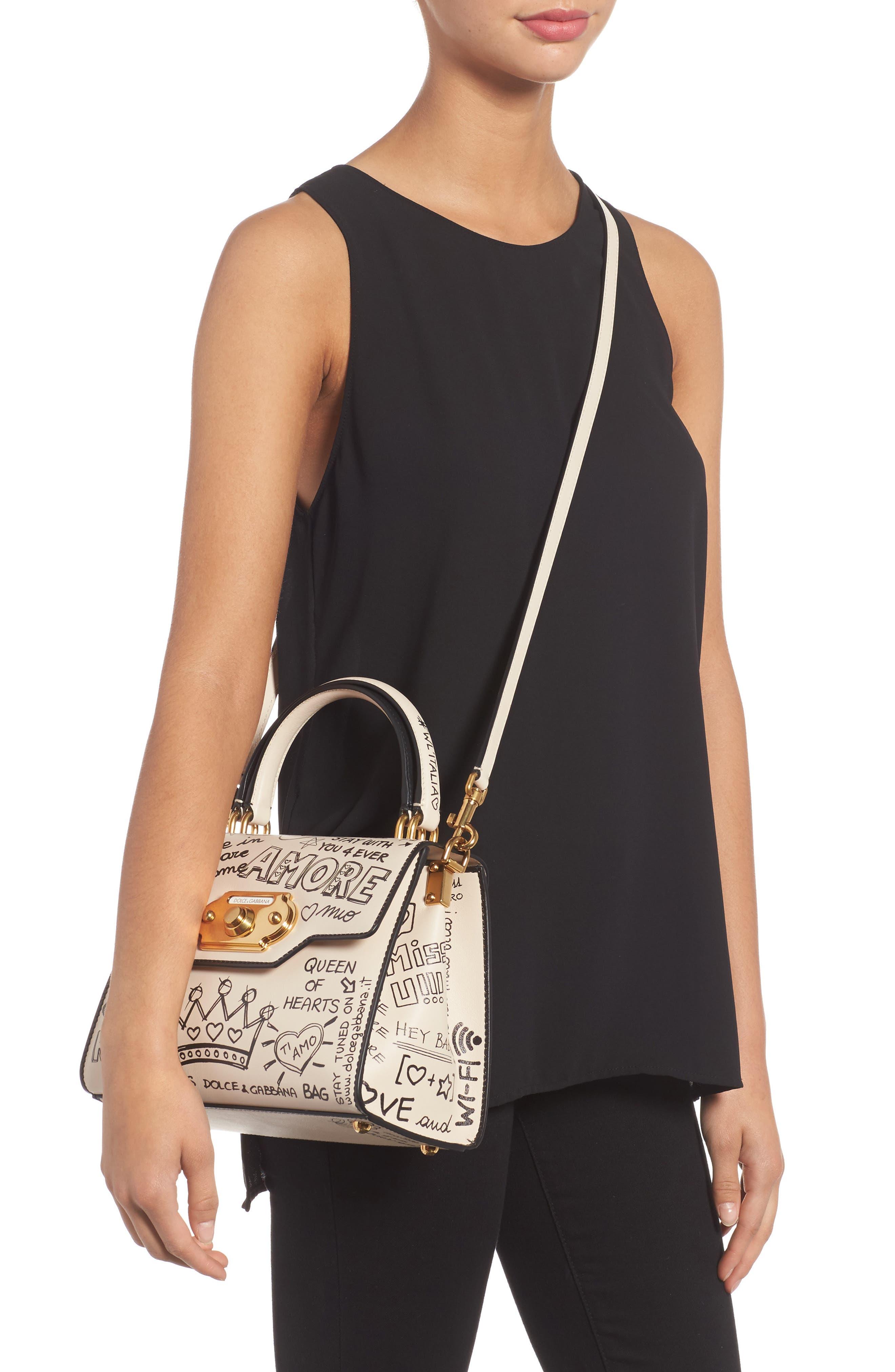 Alternate Image 2  - Dolce&Gabbana Medium Welcome Leather Satchel